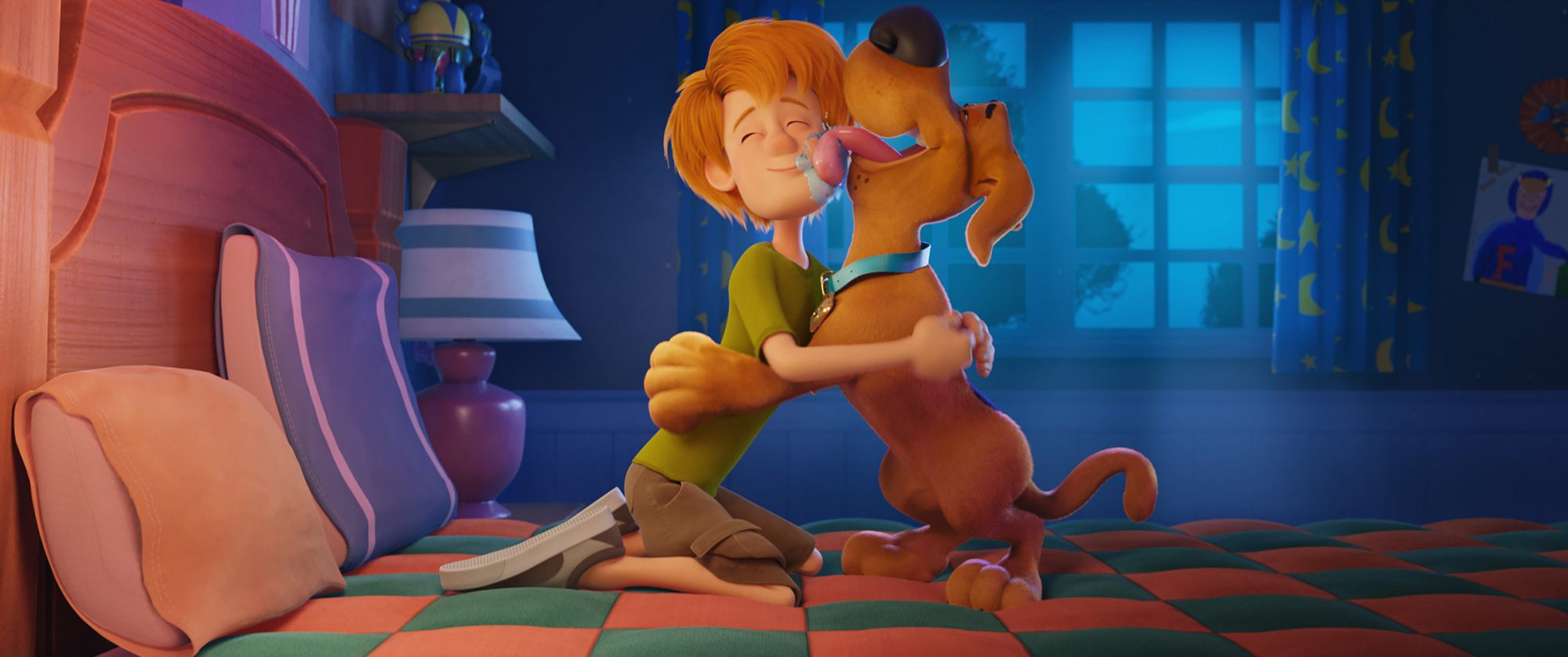 "Caption: (L-r) Shaggy voiced by WILL FORTE and Scooby-Doo voiced by FRANK WELKER in the new animated adventure ""SCOOB!"" from Warner Bros. Pictures and Warner Animation Group."