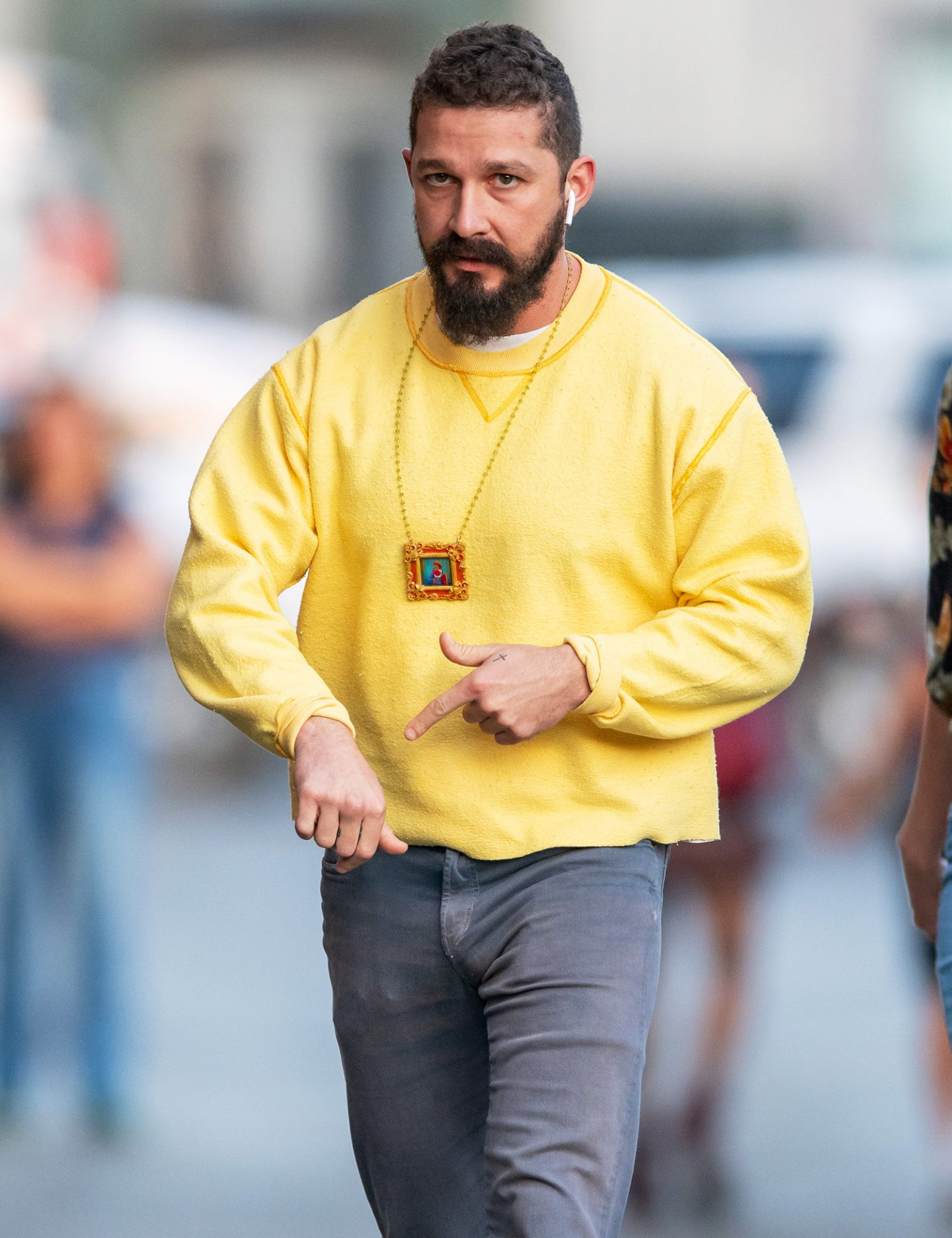 Shia LaBeouf is seen at 'Jimmy Kimmel Live' on November 06, 2019 in Los Angeles