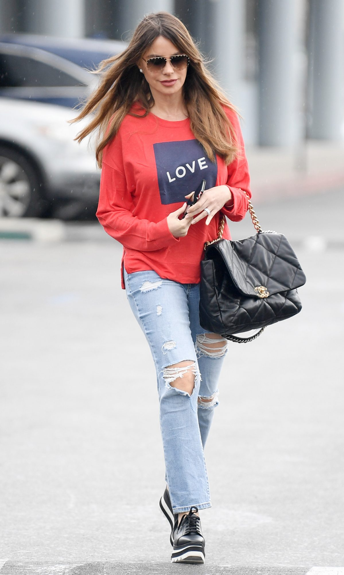 Sofia Vergara is pictured out and about in Los Angeles