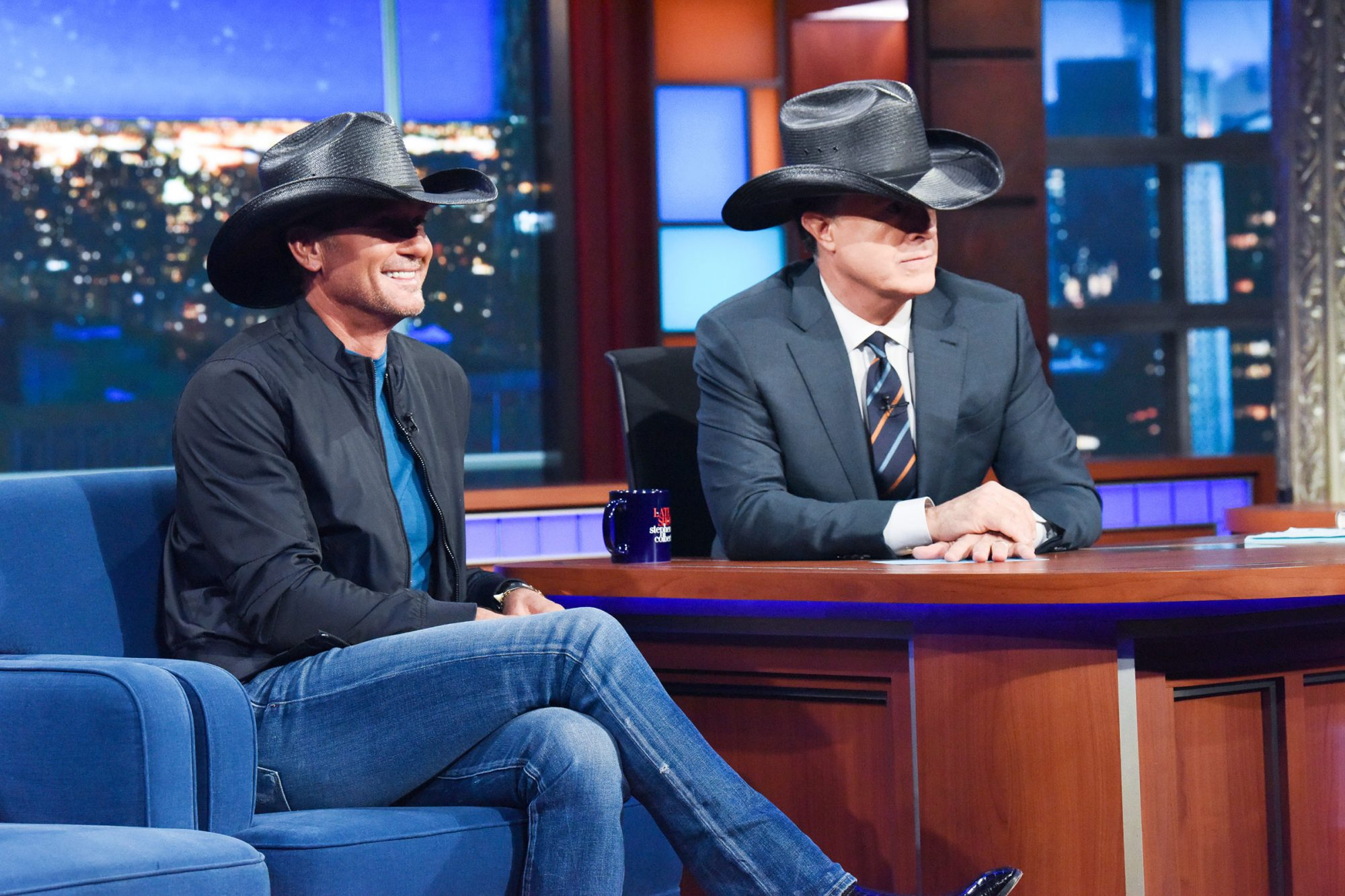 The Late Show with Stephen Colbert and guest Tim McGraw
