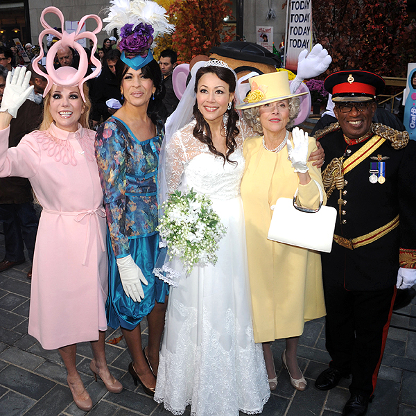 THE TODAY HOSTS AS THE ROYAL FAMILY