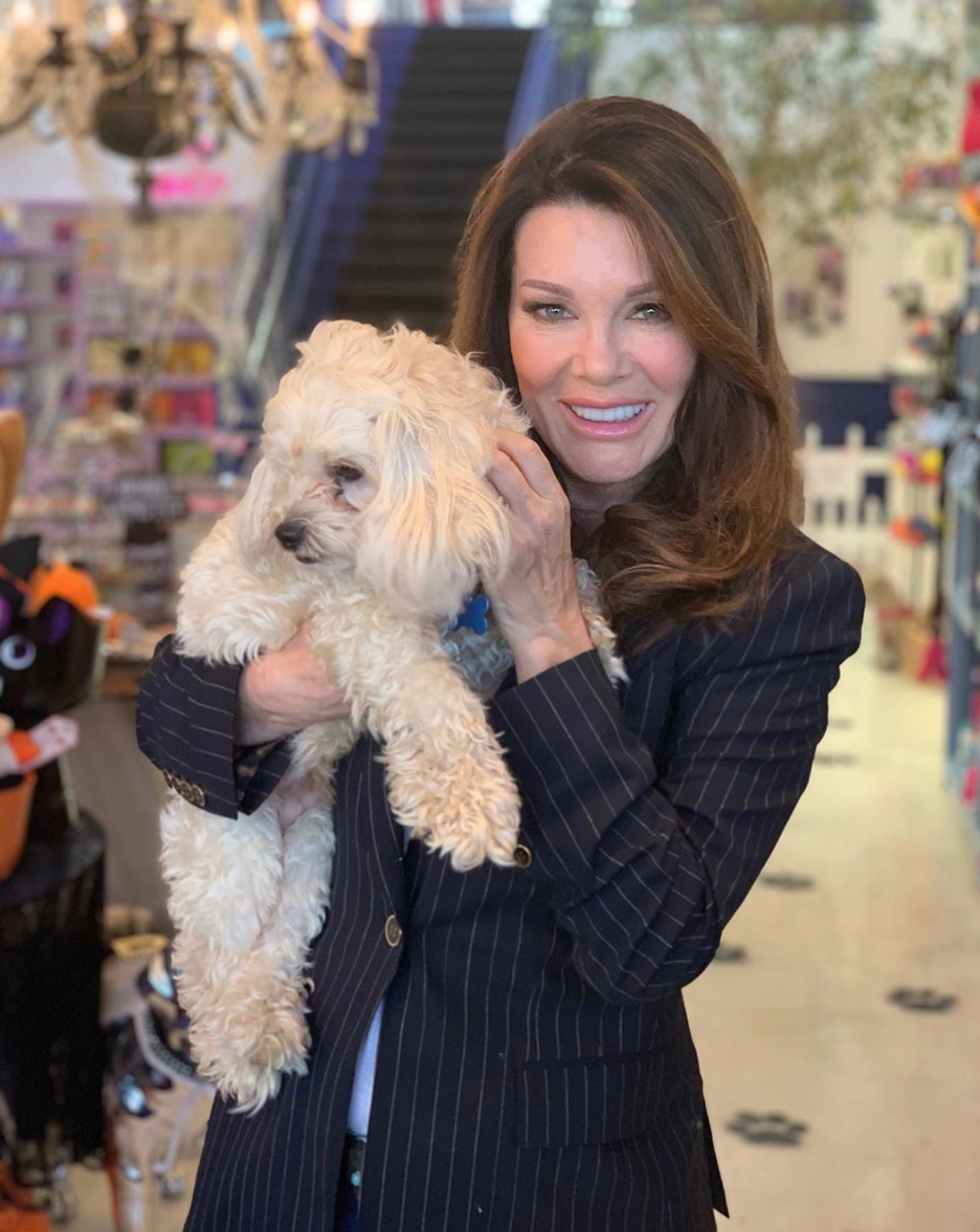 lisa vanderpump with rescue dog