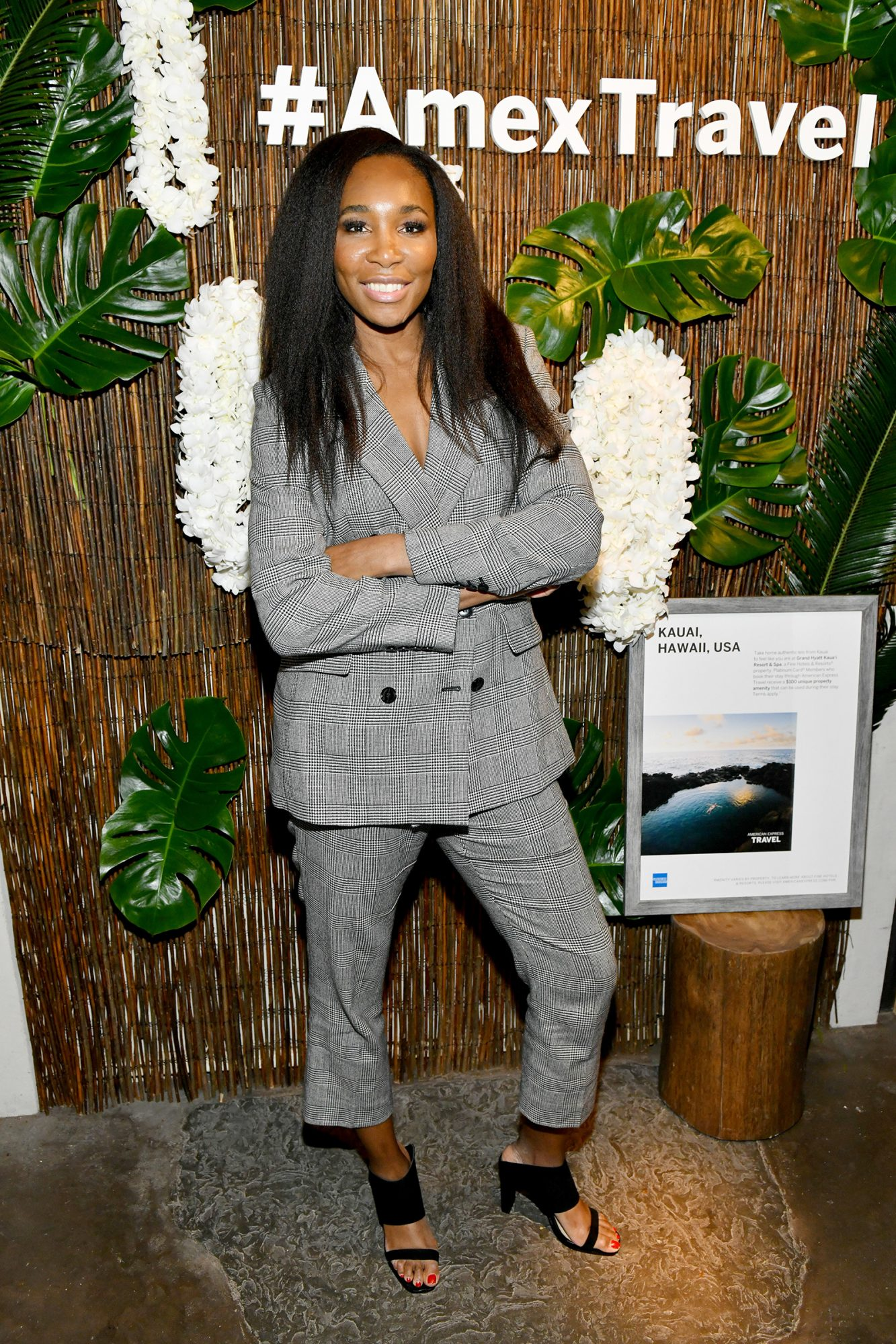 Venus Williams hosts an immersive experience presented by American Express Travel at the Greenwich Hotel on November 7, 2019, in New York City