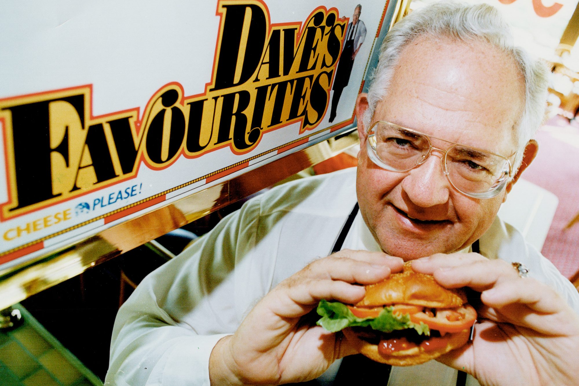 Wendy's founder: Dave Thomas; who visits 50 cities throughout North America in an average year; dropped into town to announce higher earnings and plans to double in size in Canada to 280 outlets by 1995