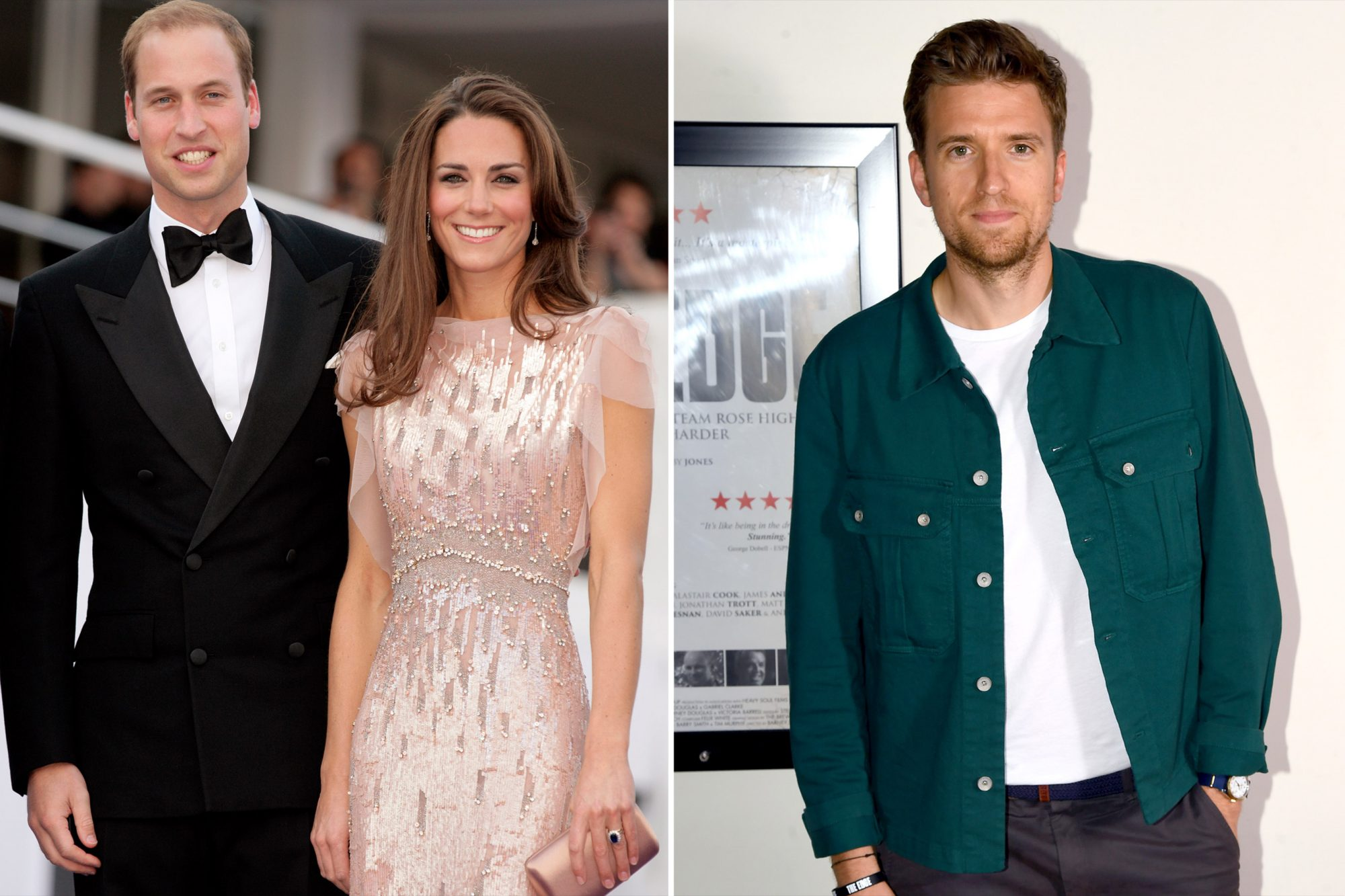 Greg James, Prince William, Duke of Cambridge and Catherine, Duchess of Cambridge