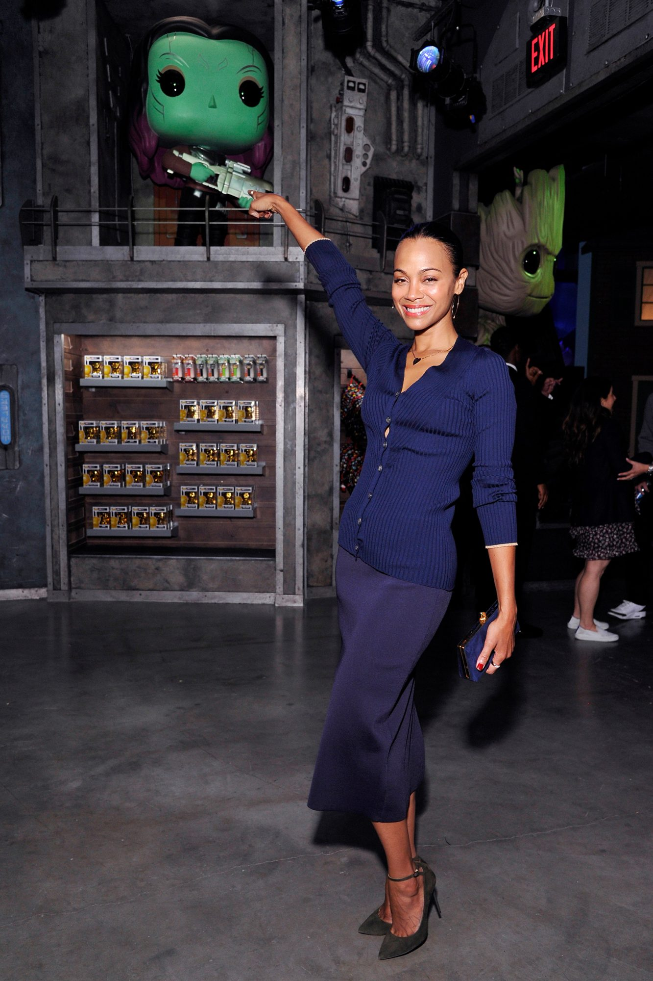 Zoe Saldana attends the Funko Hollywood VIP Preview Event at Funko Hollywood on November 07, 2019 in Hollywood