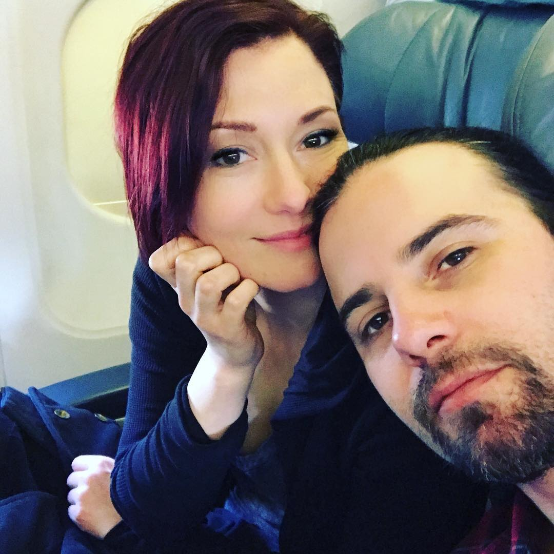 Chyler Leigh and her husband Nathan West