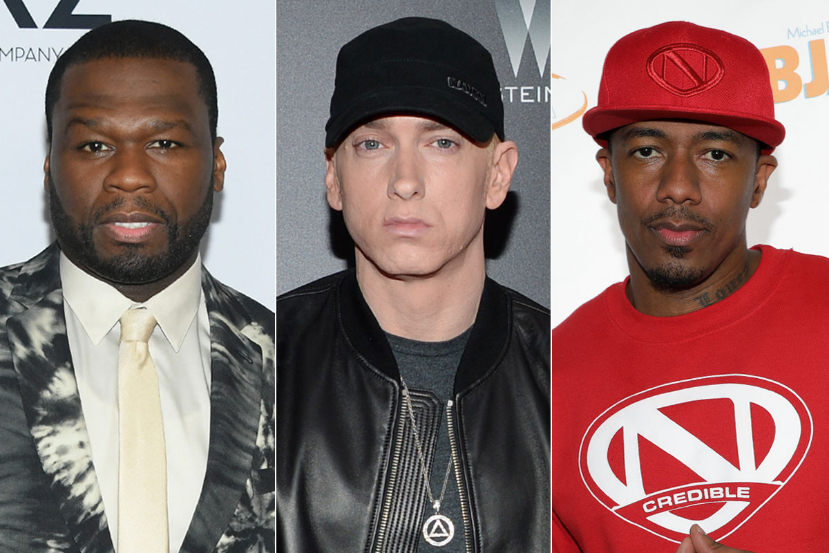 50 cent, Eminem & Nick Cannon