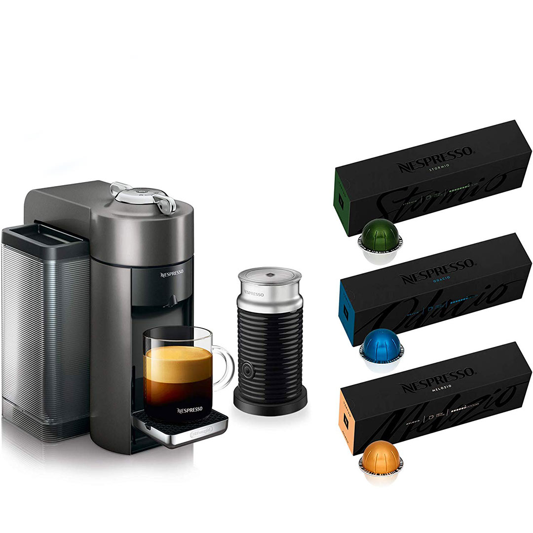 Nespresso Vertuo Coffee and Espresso Machine Bundle by De'Longhi with Aeroccino Milk Frother Cyber Monday Sale
