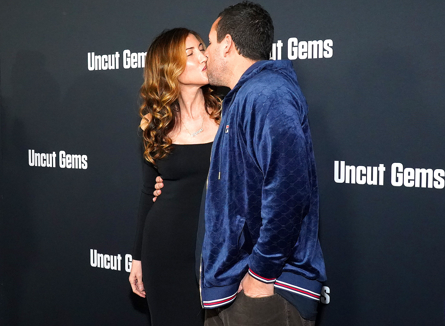 """Adam Sandler and Jackie Sandler attend the premiere of A24's """"Uncut Gems"""""""