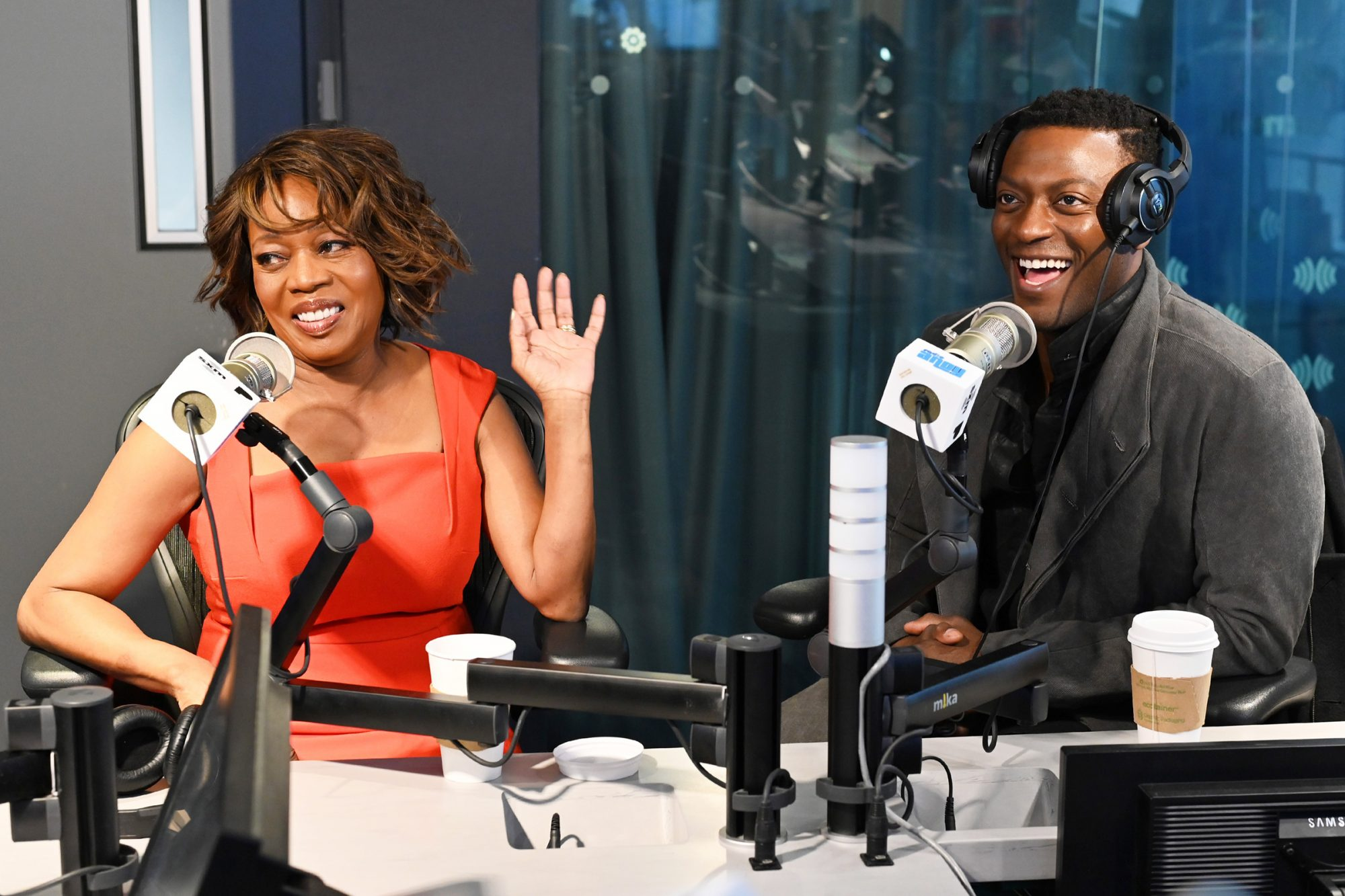 """Alfre Woodard and Aldis Hodge visit Radio Andy at SiriusXM Studios to discuss the film """"Clemency"""" on December 09, 2019 in New York City"""