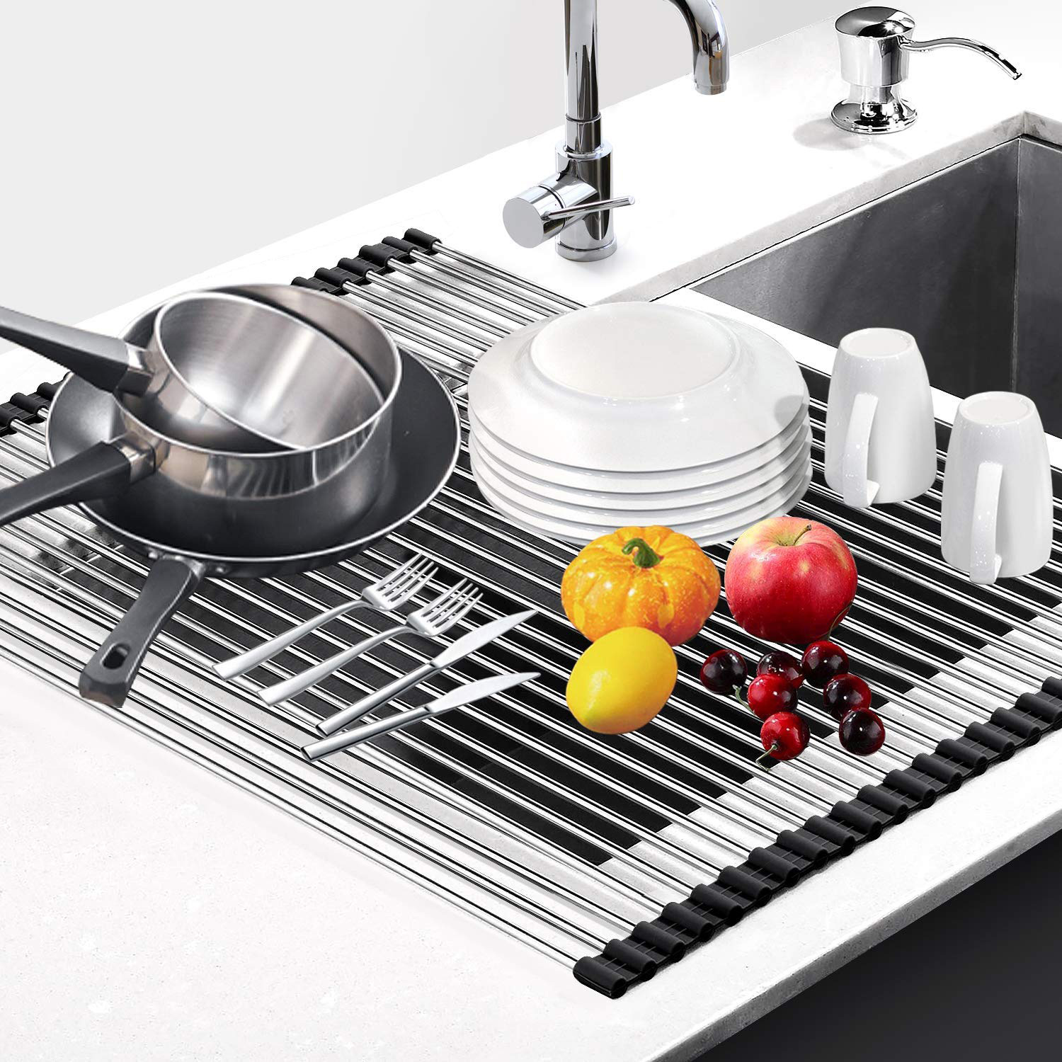 G-Ting Roll Up Over Sink Dish Drying Rack