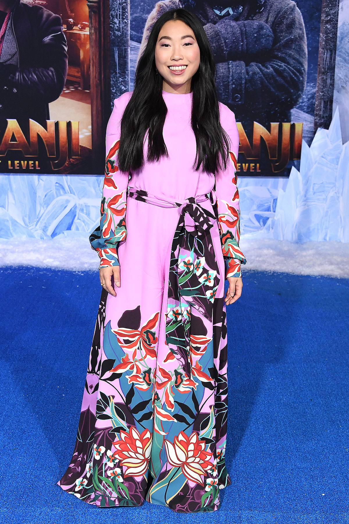 "HOLLYWOOD, CALIFORNIA - DECEMBER 09: Awkwafina arrives at the Premiere Of Sony Pictures' ""Jumanji: The Next Level"" on December 09, 2019 in Hollywood, California."
