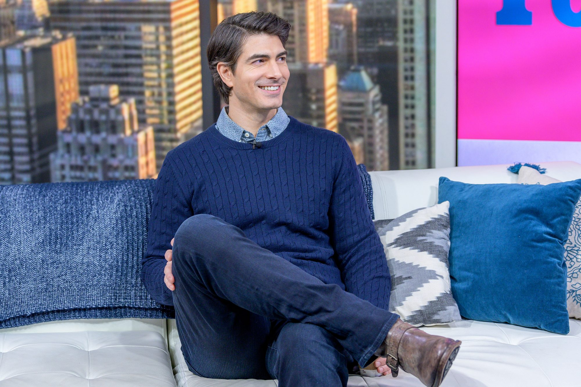 Brandon Routh visits People Now on December 09, 2019 in New York