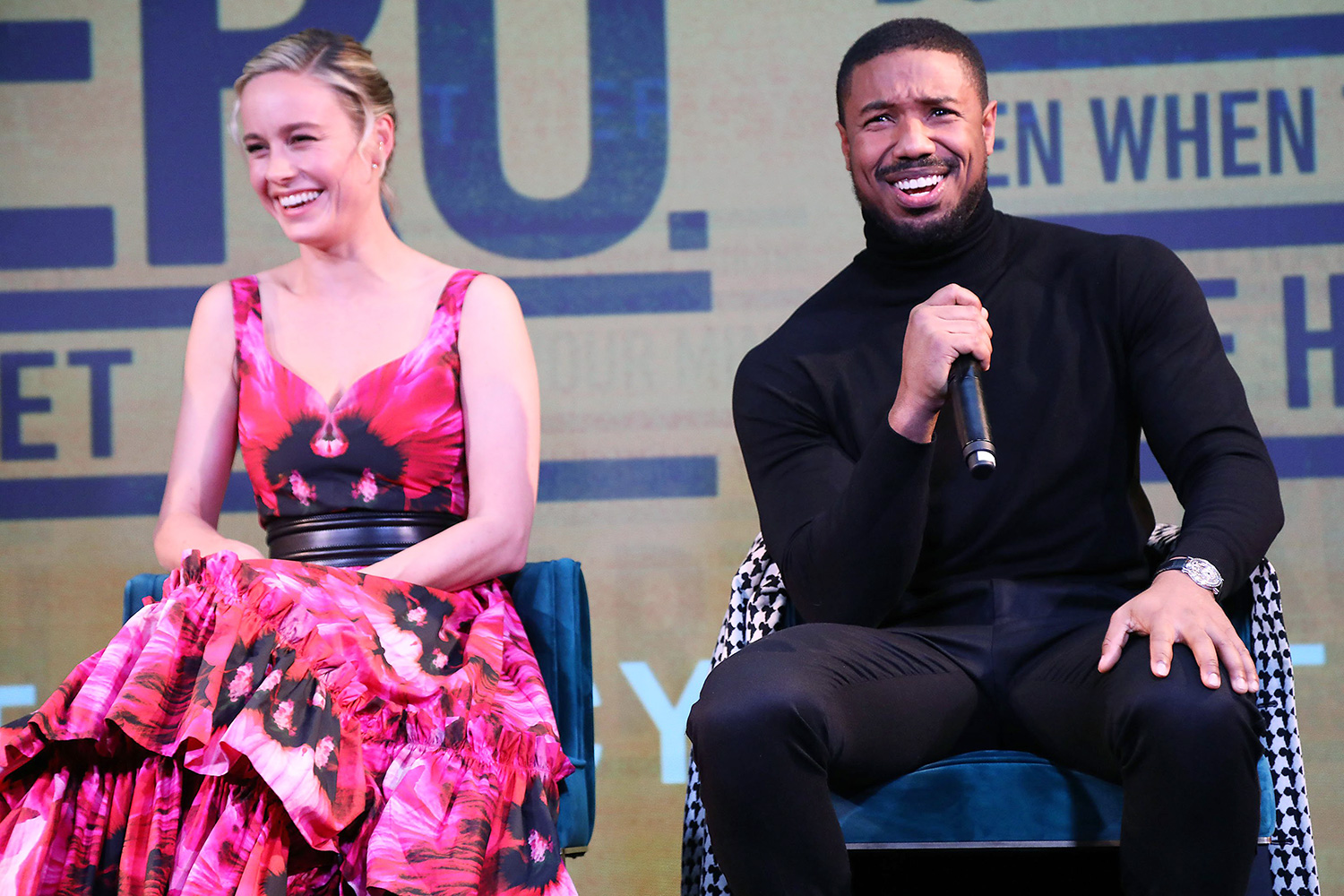 """Brie Larson and Michael B. Jordan A Celebration for """"Just Mercy"""" with a Conversation with the Cast and Writer Bryan Stevenson, New York, USA - 15 Dec 2019"""
