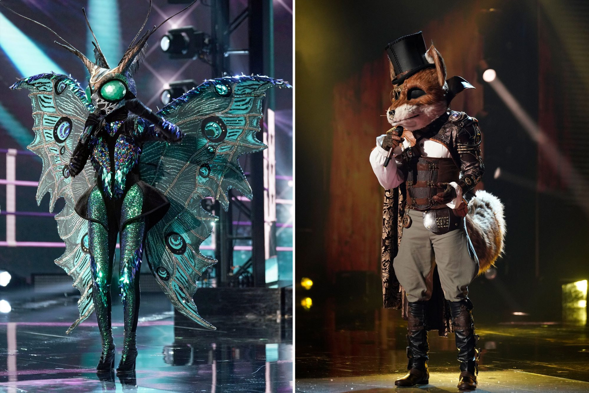 Butterfly and Fox on Masked Singer