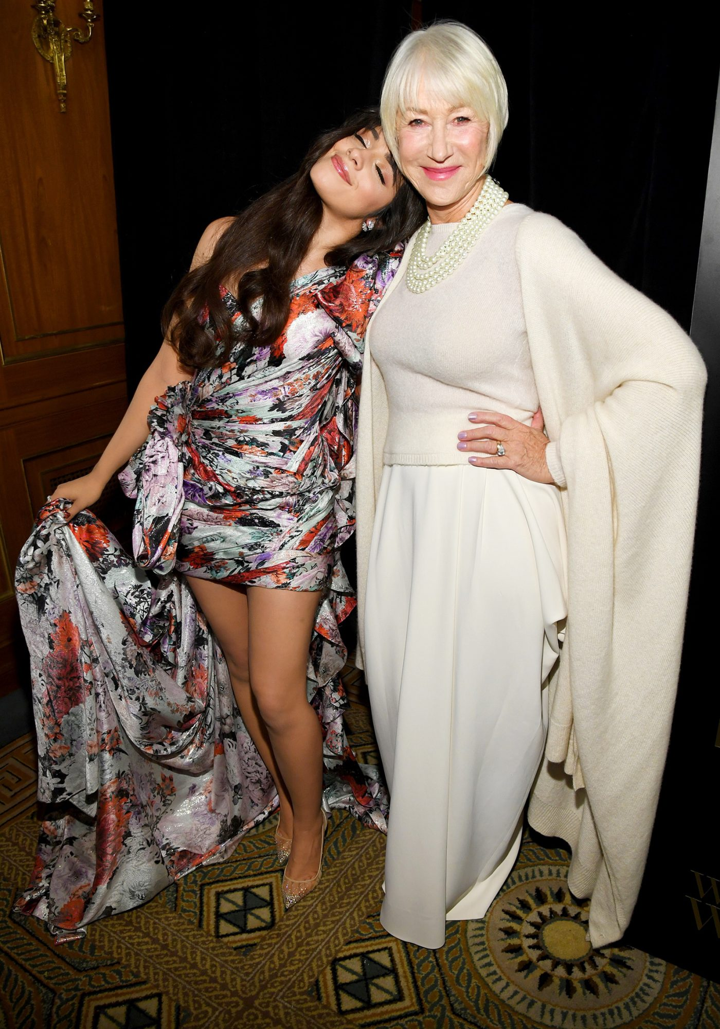 Camila Cabello (L) and Dame Helen Mirren attend the 14th Annual L'Oreal Paris Women Of Worth Awards at The Pierre on December 04, 2019 in New York City