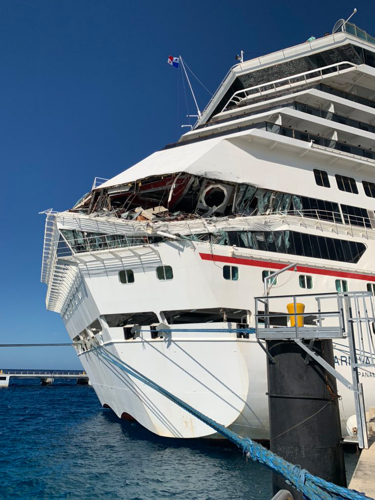 Carnival Glory crashed into Carnival Legend at the Cozumel cruise port
