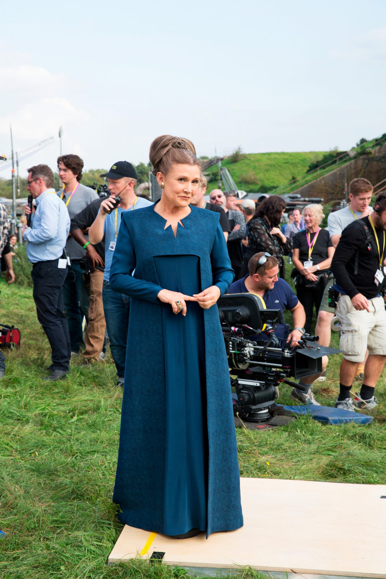 Star Wars: The Last Jedi Pictured:Carrie Fisher on the set of Star Wars: The Force Awakens