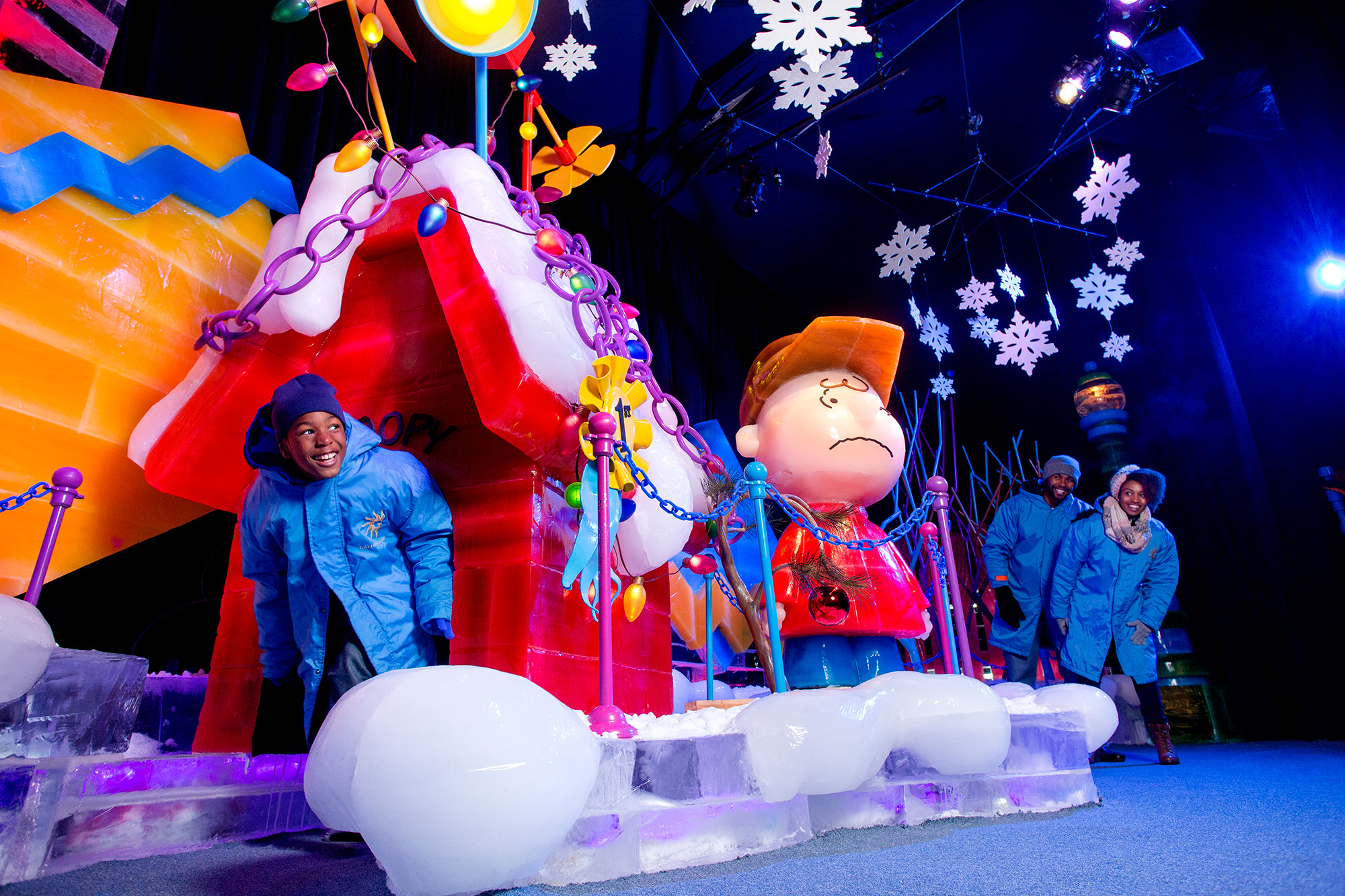 Charlie Brown on ice attraction