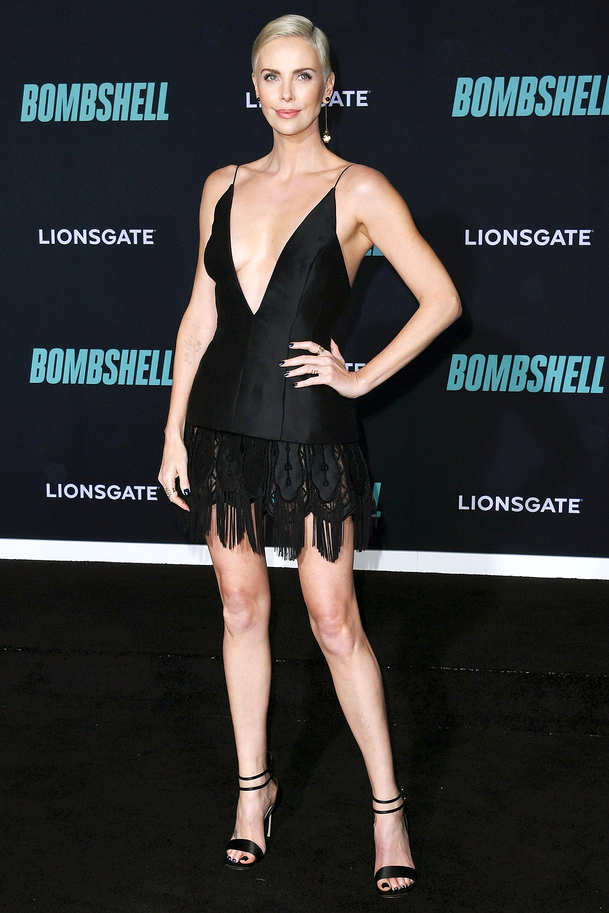 """WESTWOOD, CALIFORNIA - DECEMBER 10: Charlize Theron attends Special Screening Of Liongate's """"Bombshell"""" at Regency Village Theatre on December 10, 2019 in Westwood, California."""