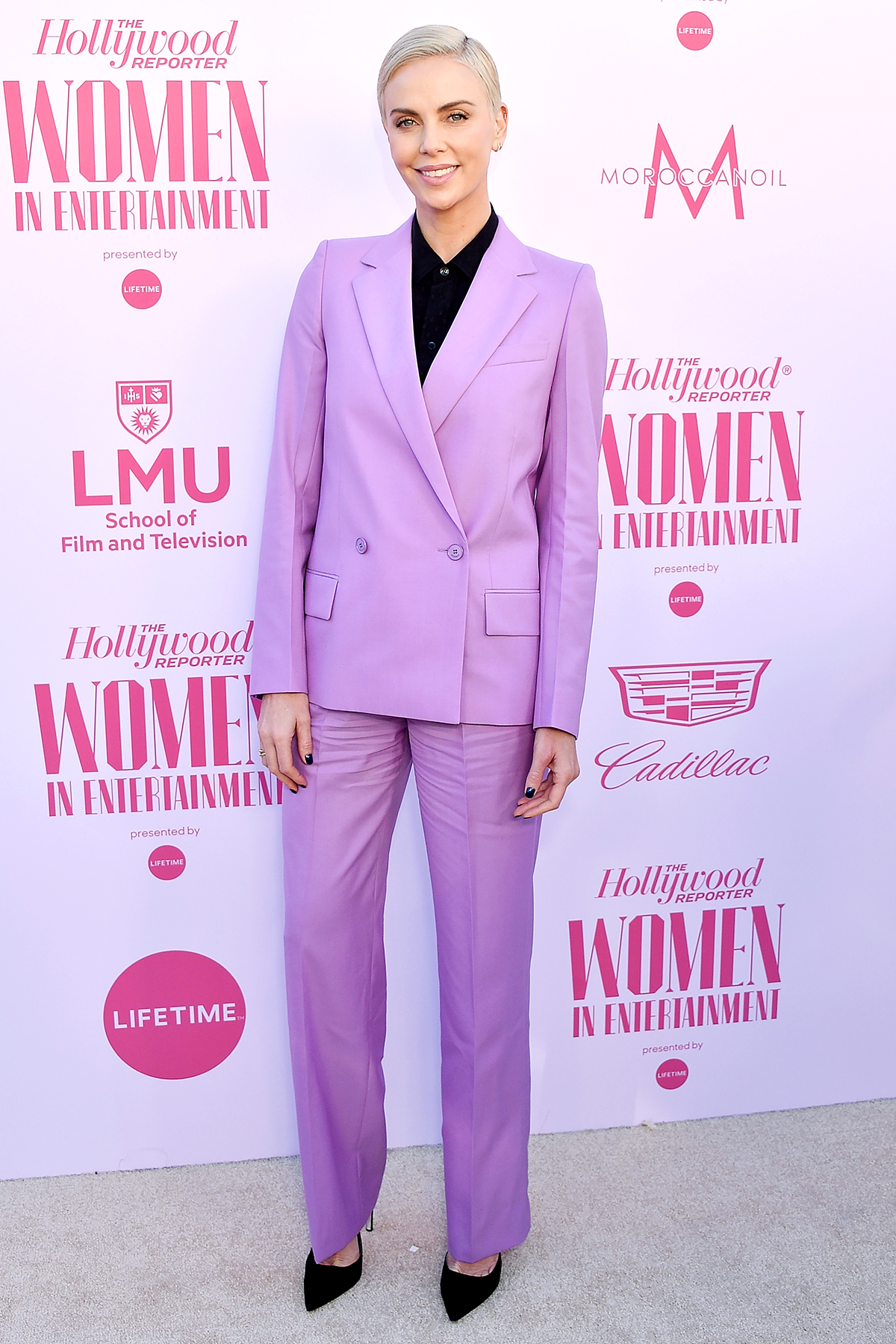 HOLLYWOOD, CA - DECEMBER 11: Charlize Theron arrives at The Hollywood Reporter's Annual Women in Entertainment Breakfast Gala at Milk Studios on December 11, 2019 in Hollywood, California.