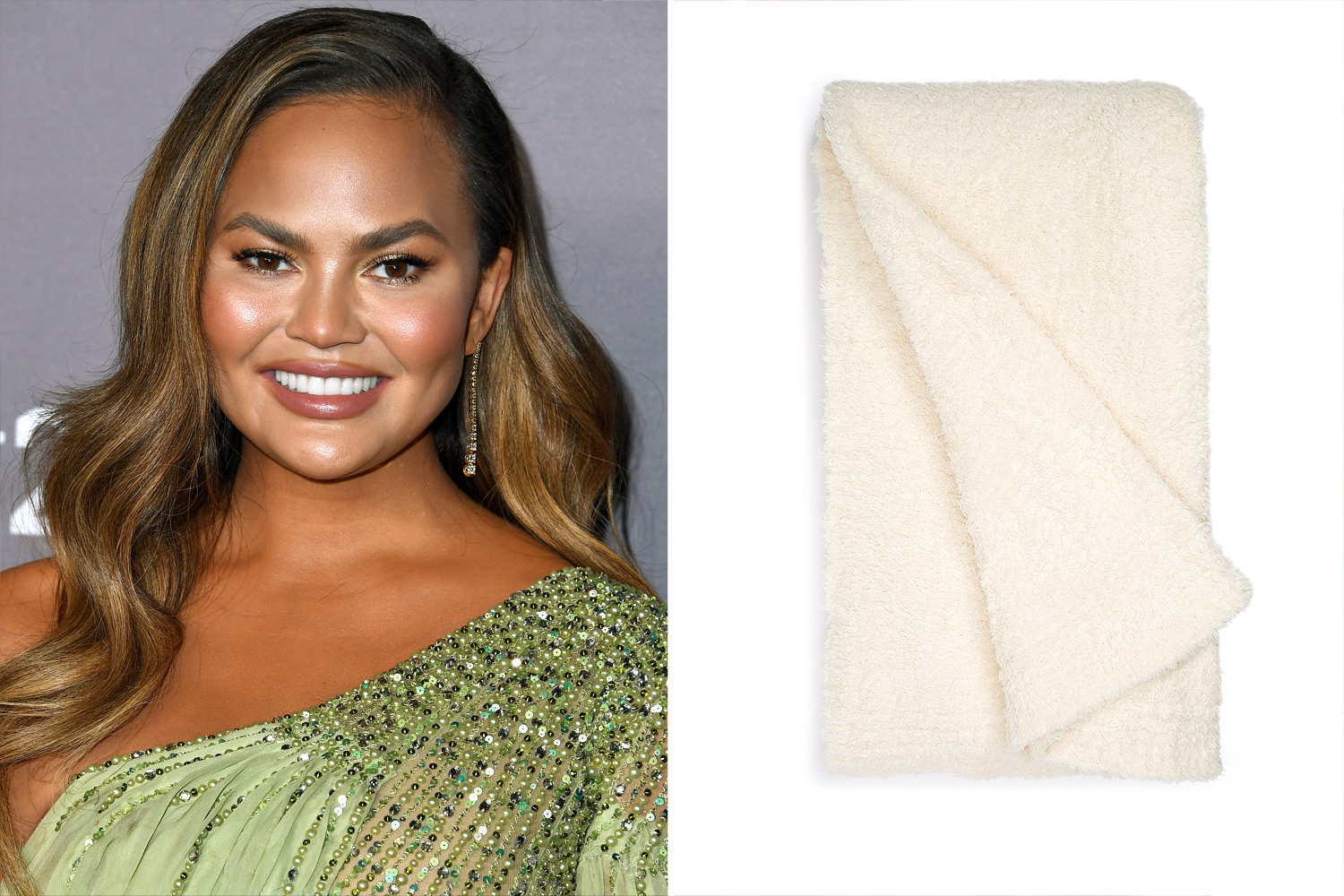 Chrissy Teigen Barefoot Dreams blanket