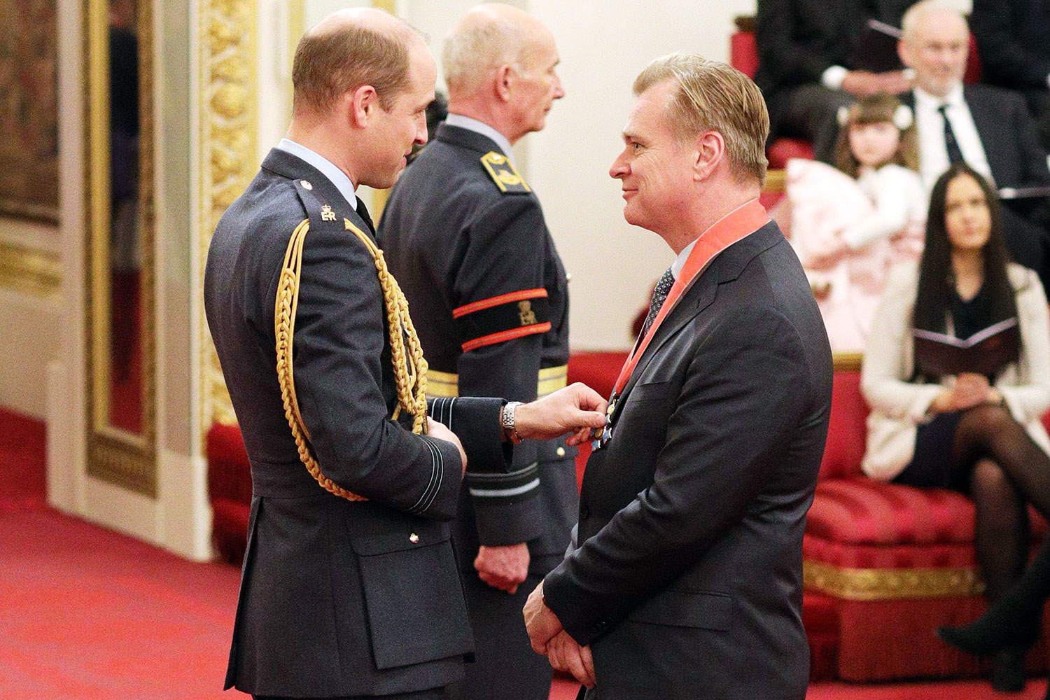 Christopher Nolan is made a CBE (Commander of the Order of the British Empire) by the Duke of Cambridge at Buckingham Palace.