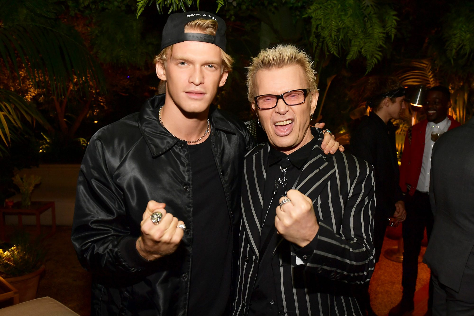 Cody Simpson and Billy Idol attend the 2019 GQ Men of the Year celebration at The West Hollywood EDITION on December 05, 2019 in West Hollywood, California