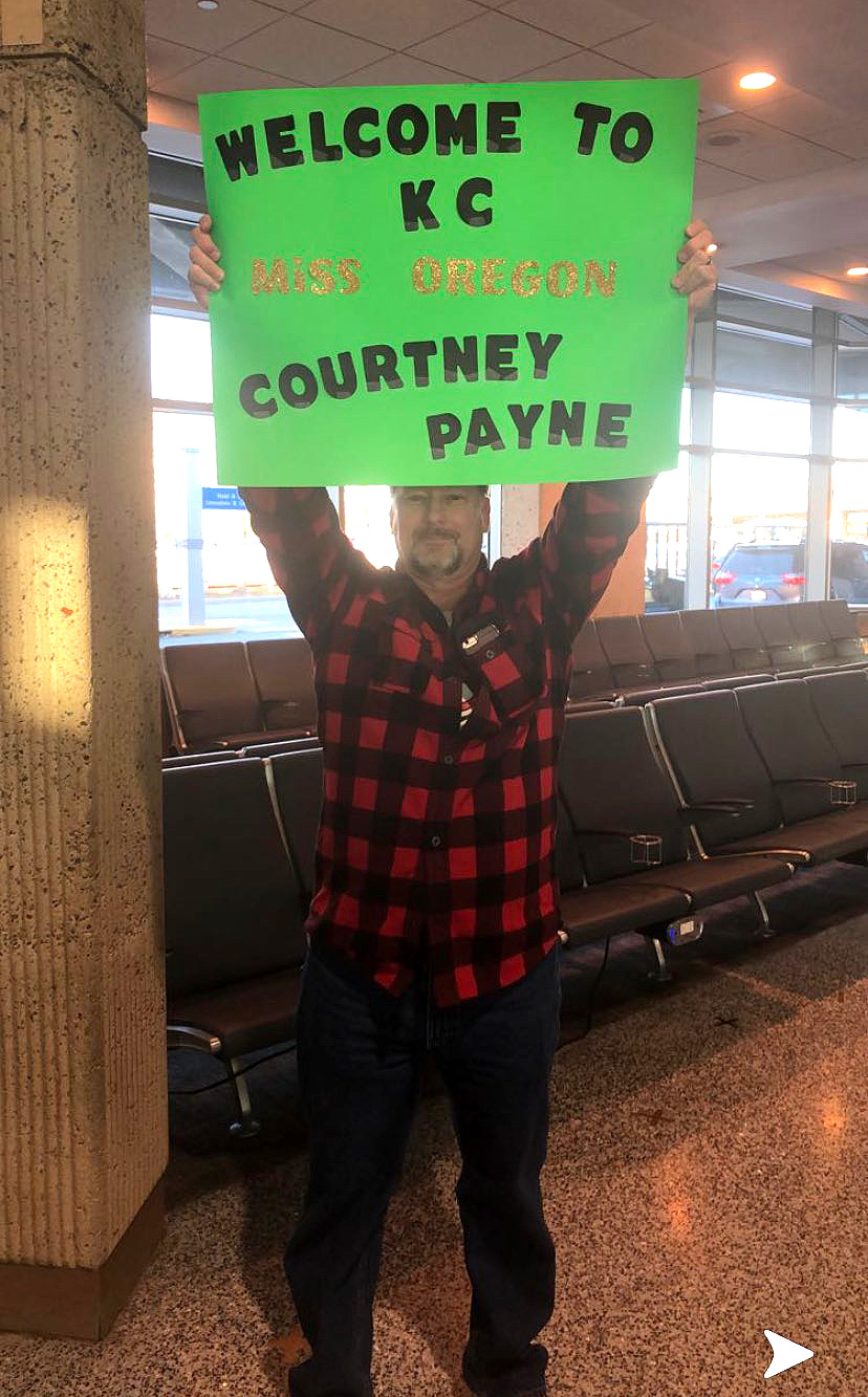 Courtney Payne's father Doug Payne at the airport