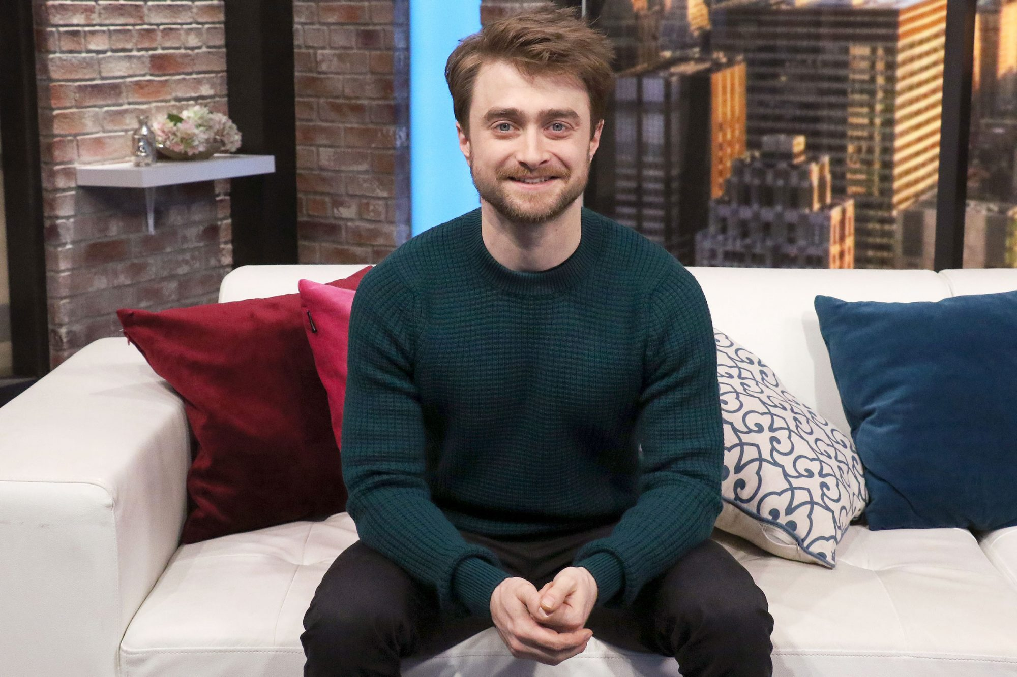 Daniel Radcliffe visits People Now on December 06, 2019 in New York, United States. (Photo by Jim Spellman/Getty Images)