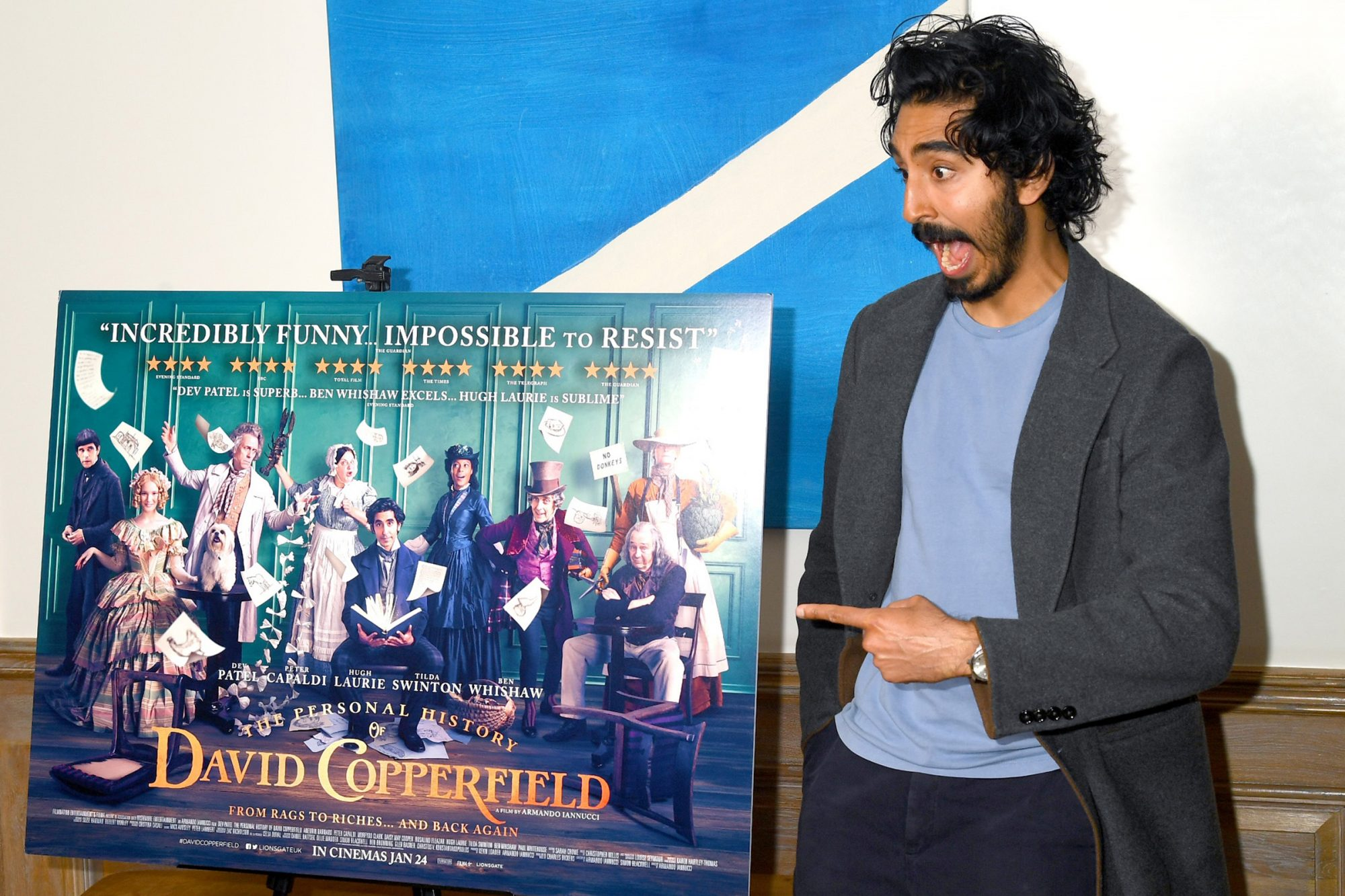 """Dev Patel attends """"The Personal History of David Copperfield"""" Screening at Soho Hotel on December 02, 2019 in London, England"""