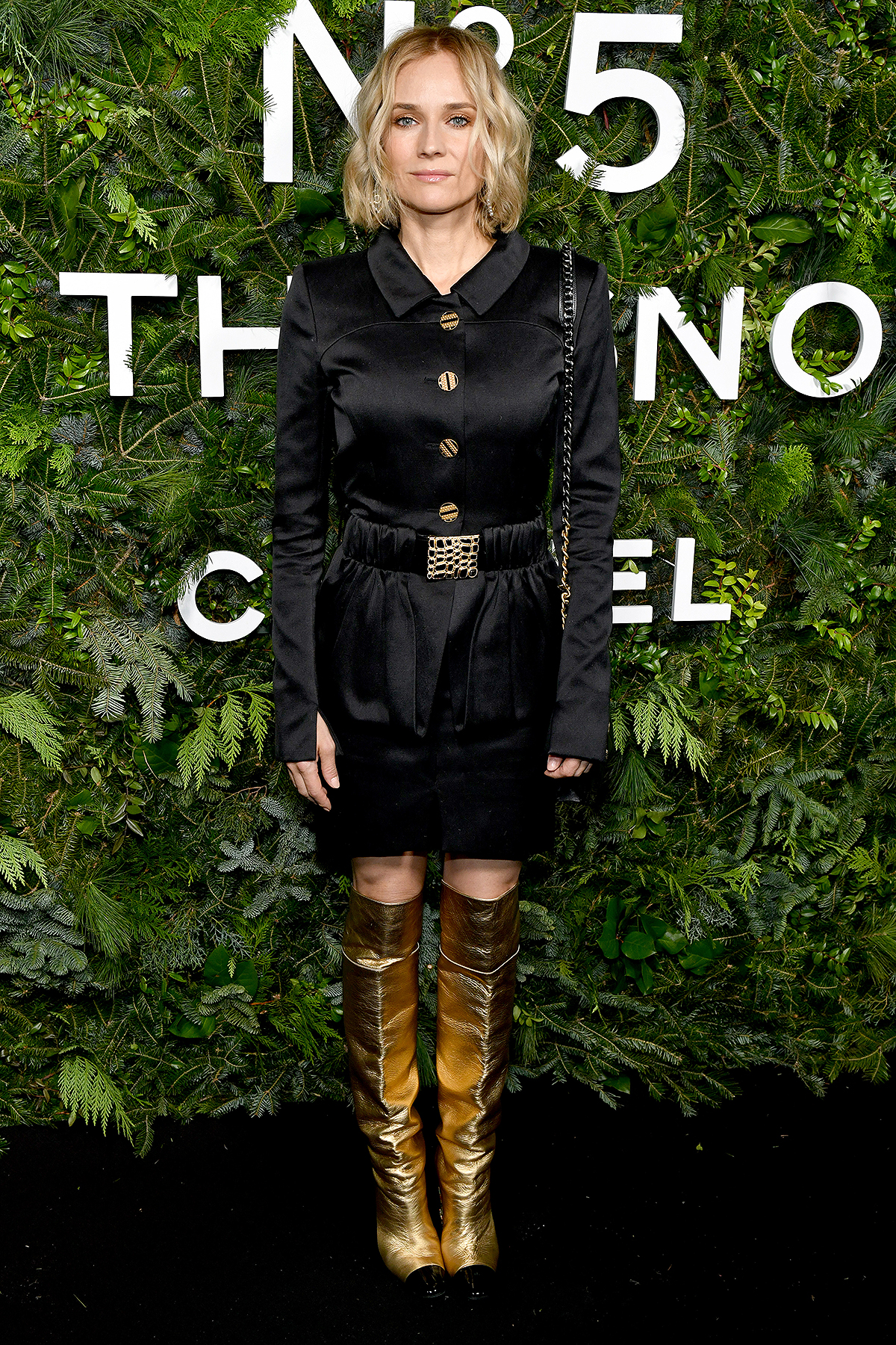 NEW YORK, NEW YORK - DECEMBER 10: Diane Kruger, wearing CHANEL, attends the CHANEL party to celebrate the debut of CHANEL N5 In The Snow at The Standard High Line on December 10, 2019 in New York City.