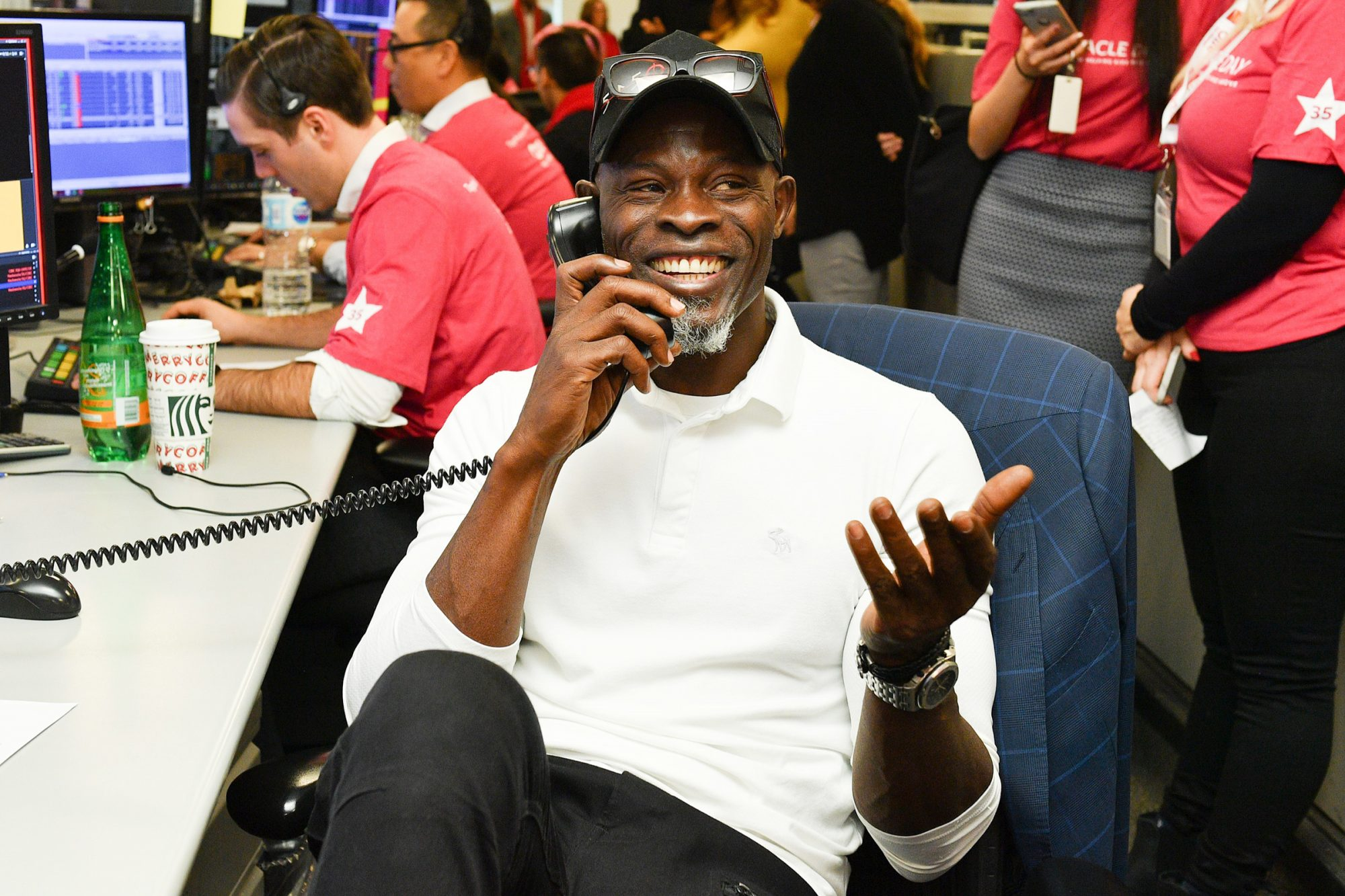 Djimon Hounsou attends The 35th Anniversary Of CIBC Miracle Day to lend a hand to raise millions for kids in need held at CIBC Headquarters December 04, 2019 in Toronto, Canada