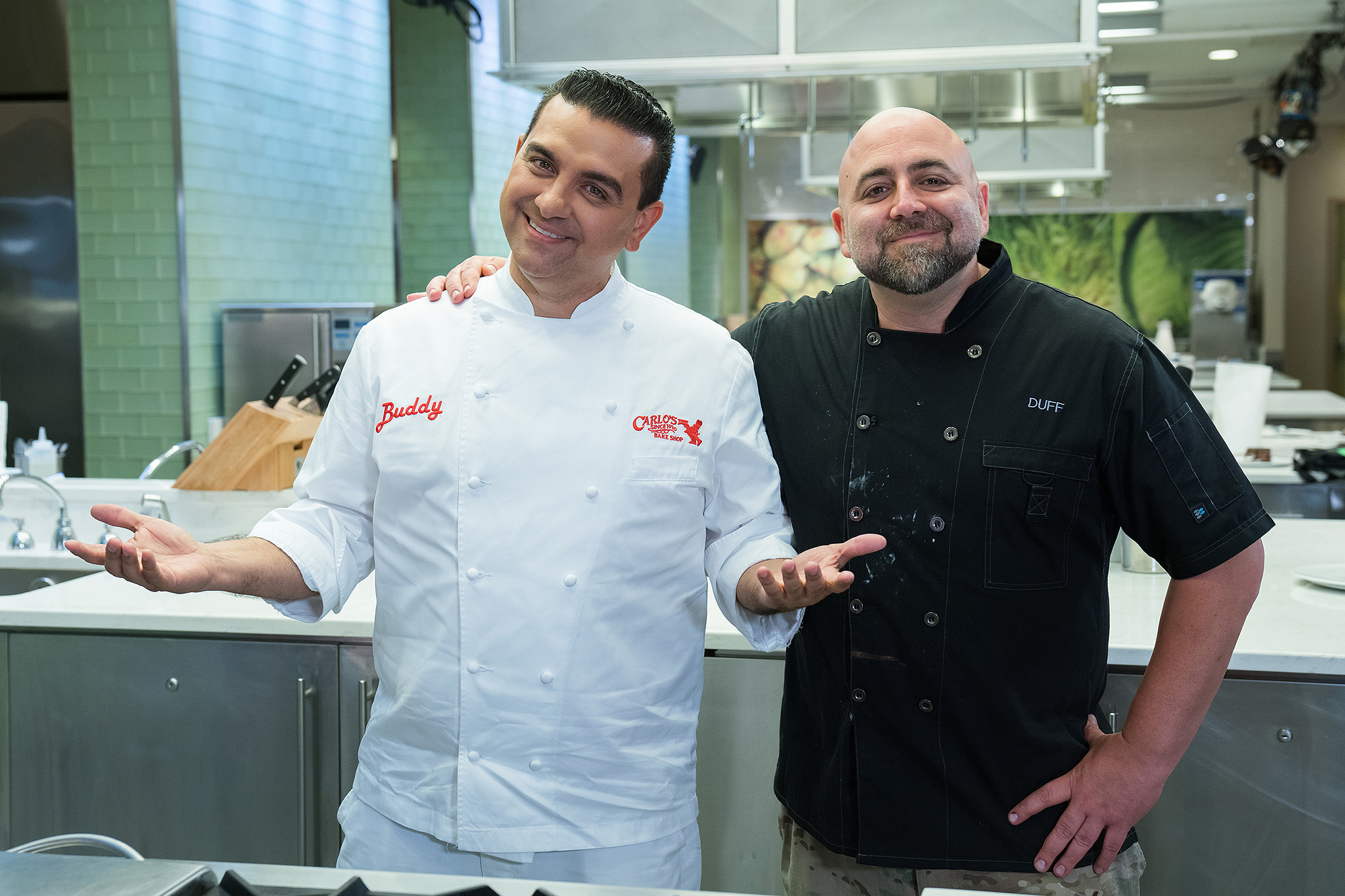 Buddy Valastro and Duff Goldman at the Food Network Studios