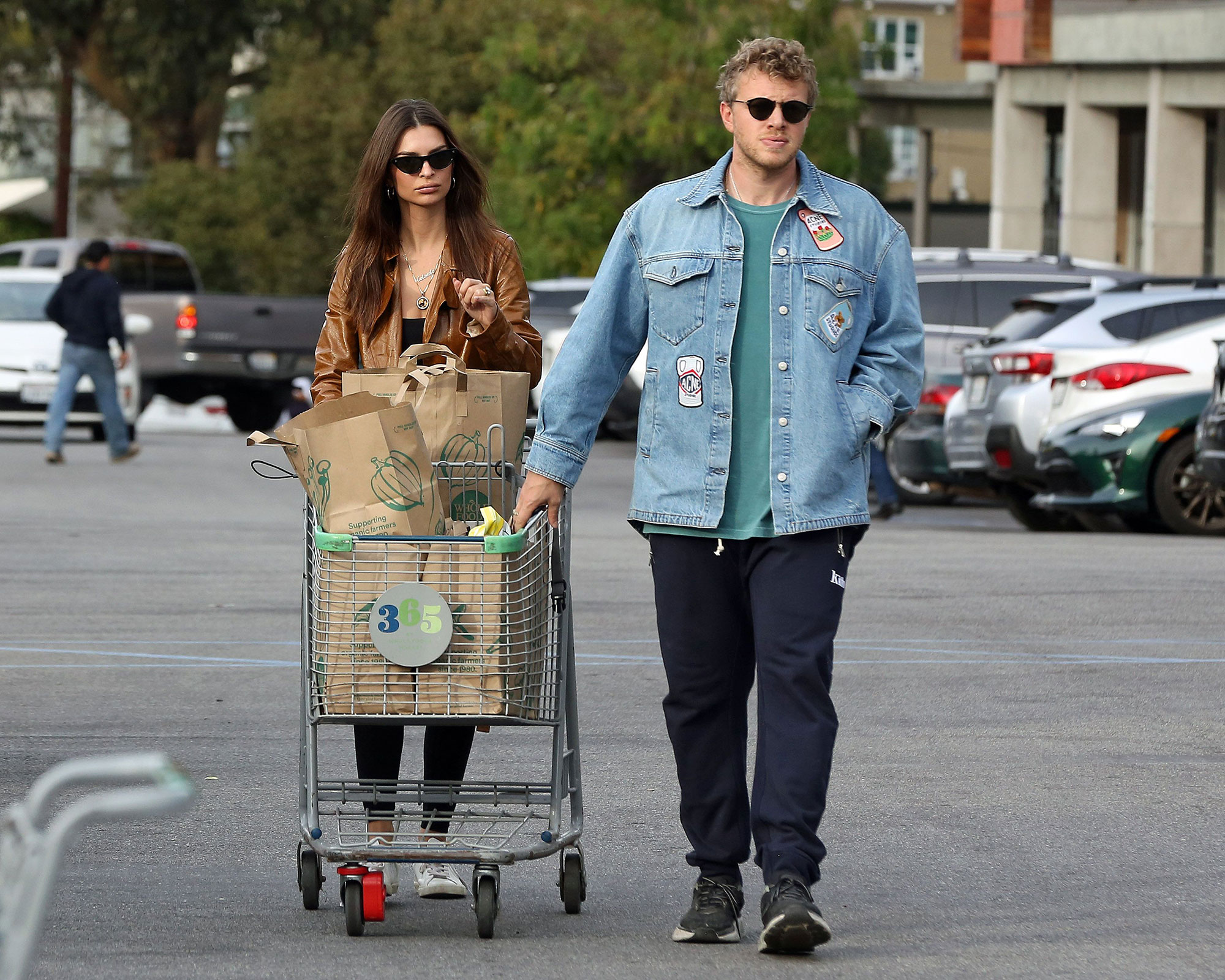 Emily Ratajkowski and her husband Sebastian Bear-McClard