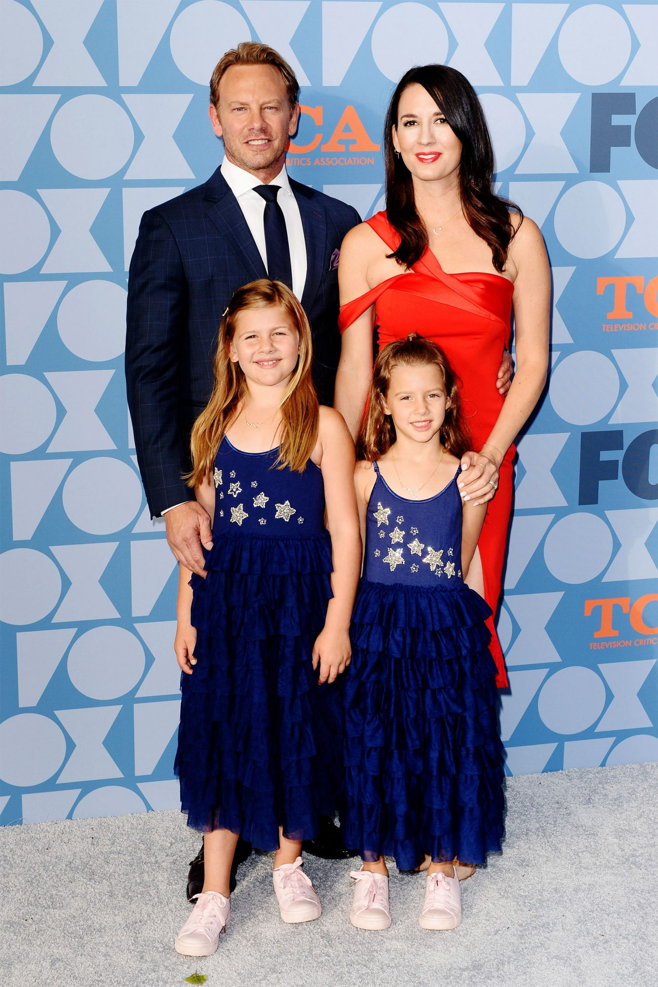 Ian Ziering, Erin Kristine Ludwig and daughters Mia Loren Ziering and Penna Mae Ziering