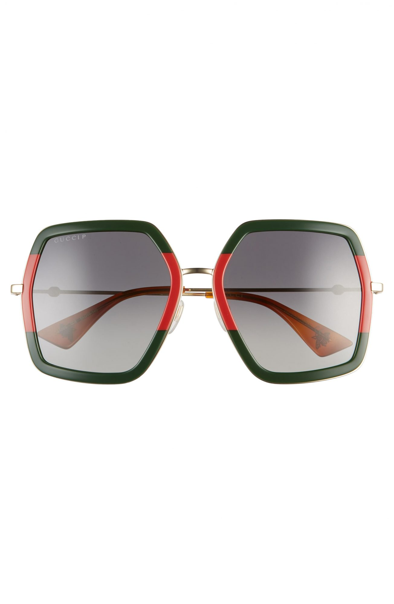 red and green oversized gucci sunglasses nordstrom