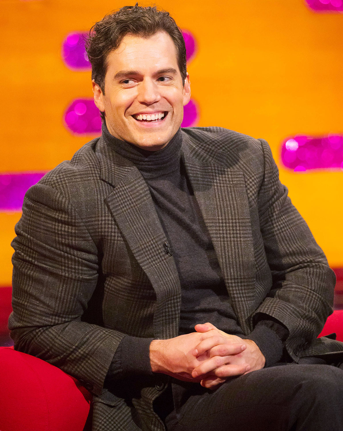 Henry Cavill during the filming for the Graham Norton Show at BBC Studioworks 6 Television Centre, Wood Lane, London, to be aired on BBC One on Friday evening