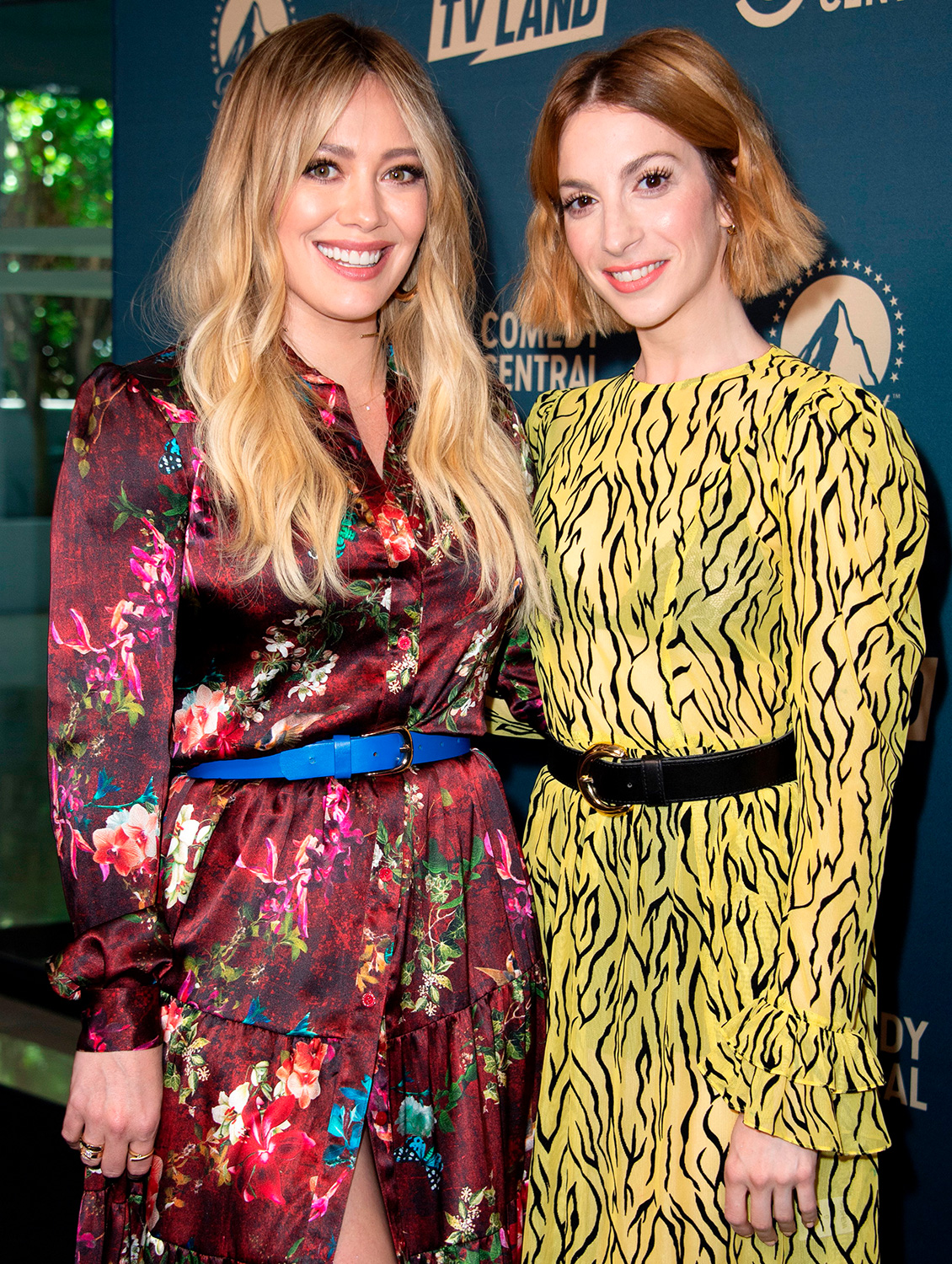 Hilary Duff (L) and Molly Kate Bernard attend the first Comedy Central, Paramount Network and TV Land Press Day, on May 30, 2019 in Los Angeles, California