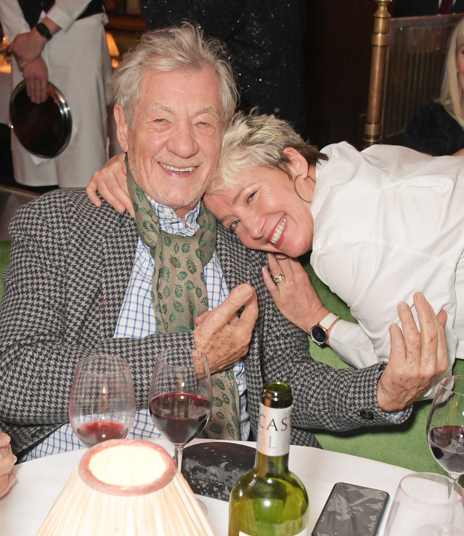 Sir Ian McKellen and Dame Emma Thompson attend One Night Only at The Ivy in aid of Acting For Others on December 1, 2019 in London, United Kingdom