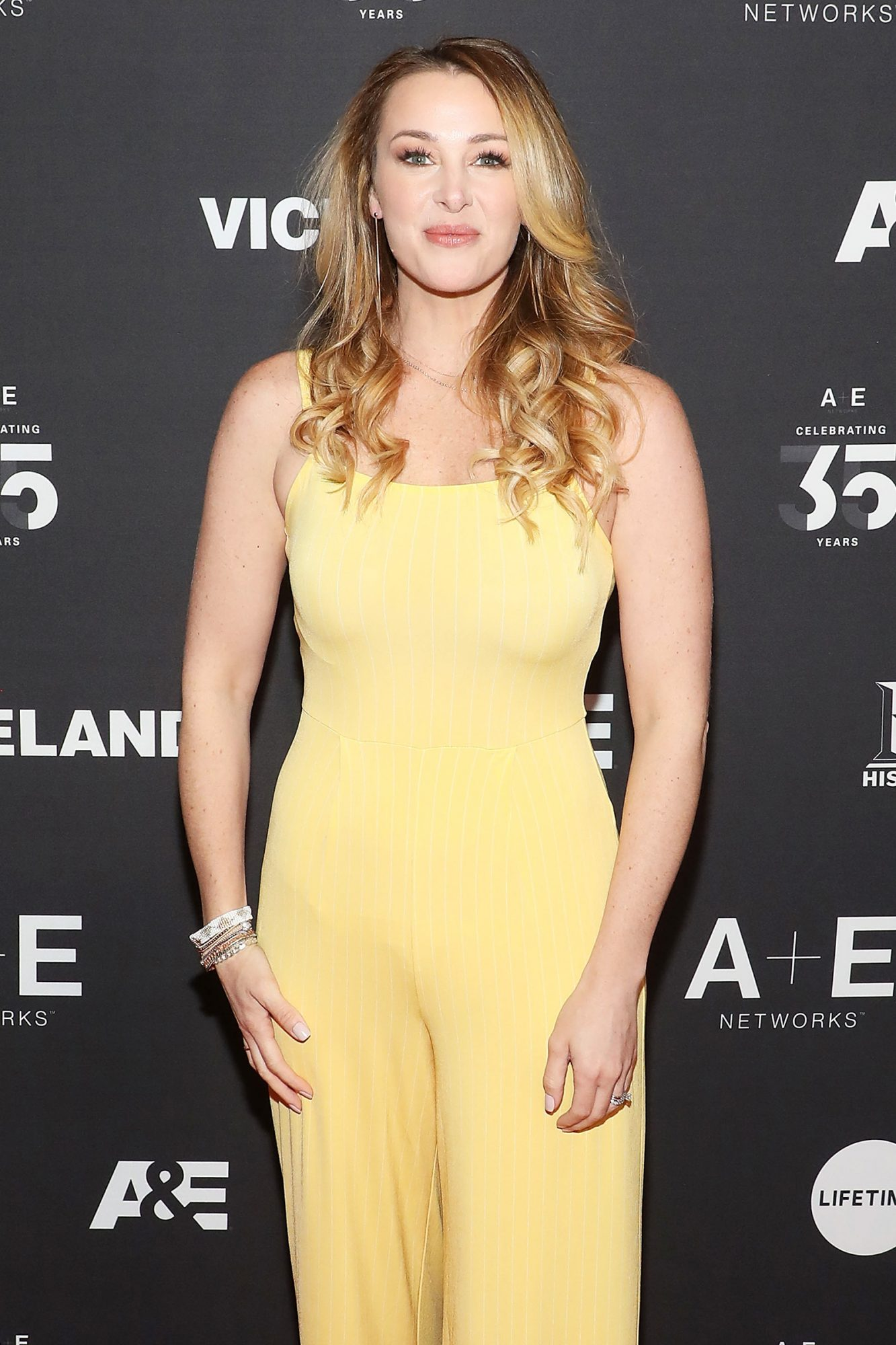Jamie Otis attends the 2019 A+E Upfront at Jazz at Lincoln Center on March 27, 2019 in New York City