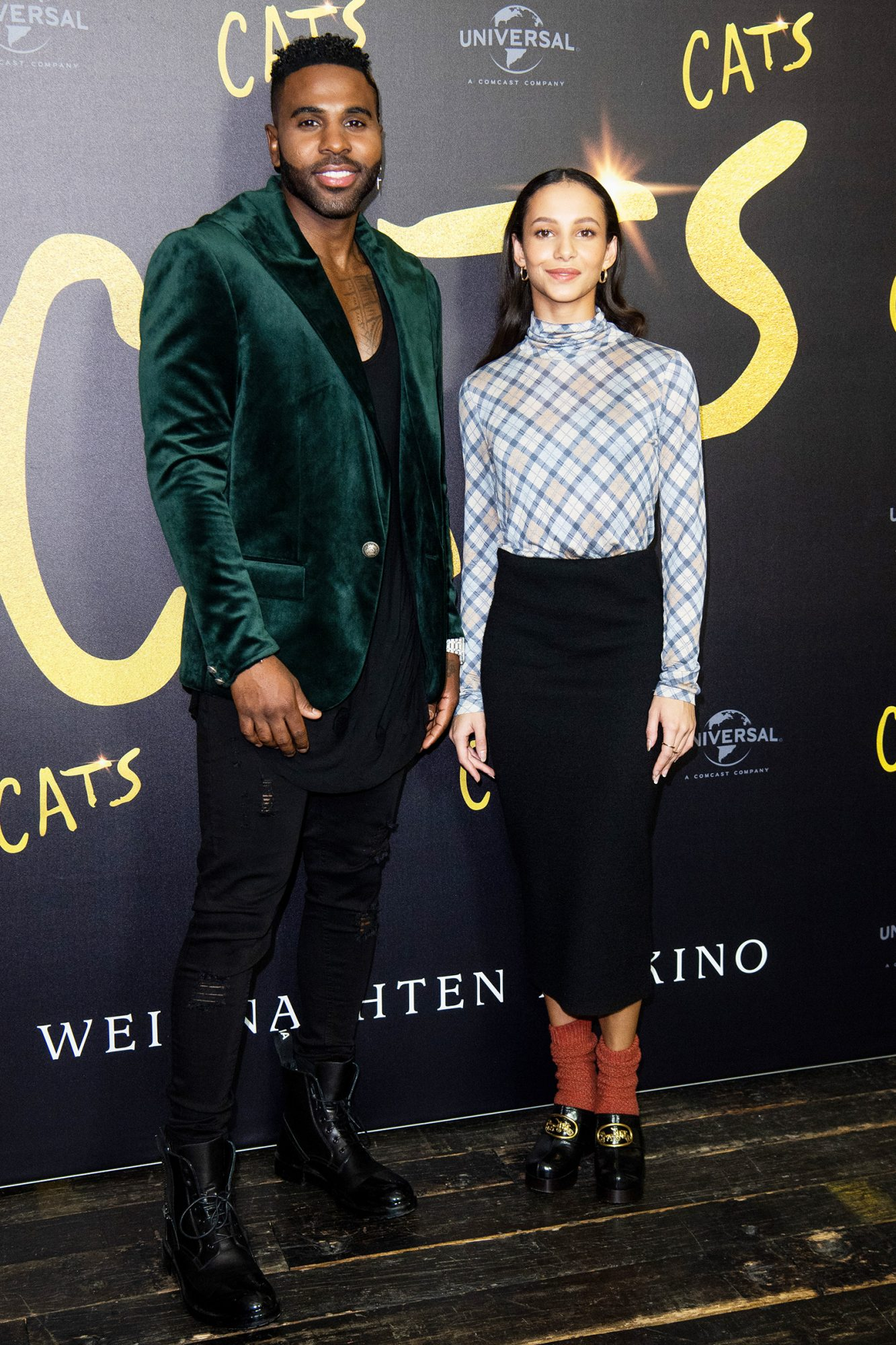 """Jason Derulo and Francesca Hayward at the photo call for the movie """"CATS"""" at Soho House on December 10, 2019 in Berlin"""