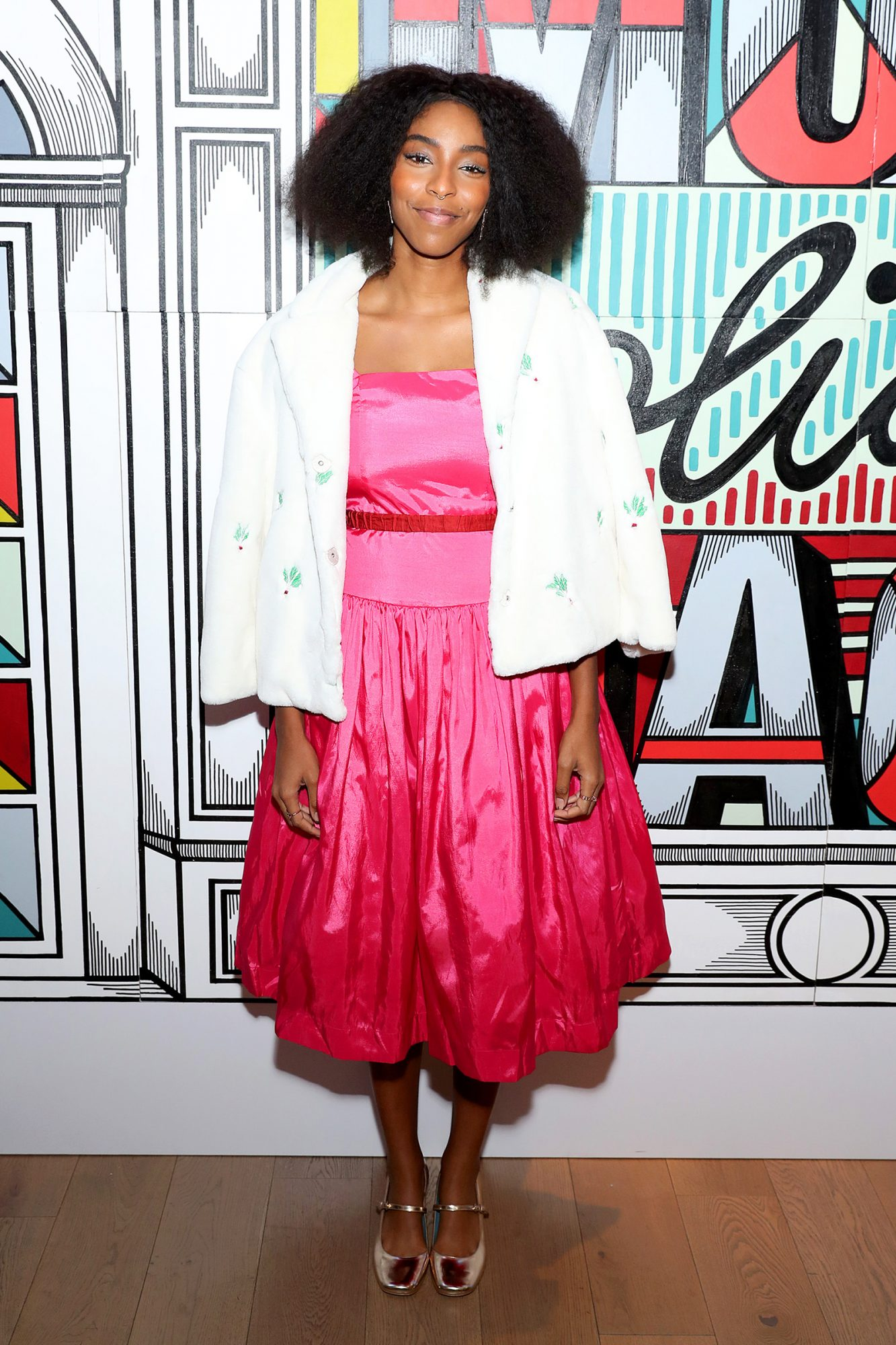 Jessica Williams attends Verizons More Holiday Magic Event at Manhatta on December 05, 2019 in New York City