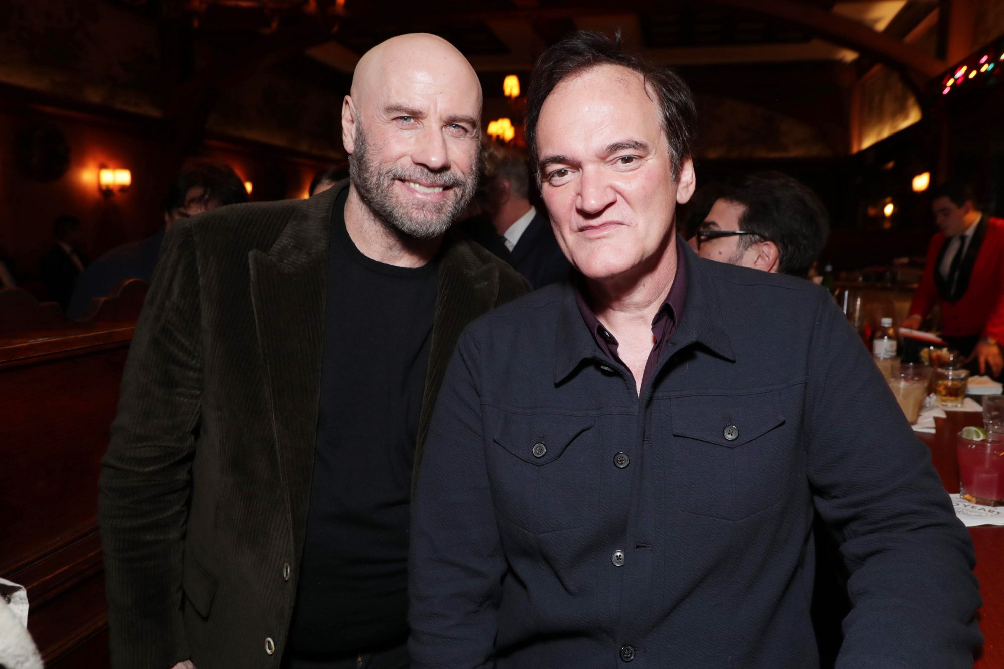John Travolta and Writer/Director/Producer Quentin Tarantino Exclusive - 'Once Upon a Time in Hollywood' event at The Musso and Frank Grill, Los Angeles, USA - 02 Dec 2019