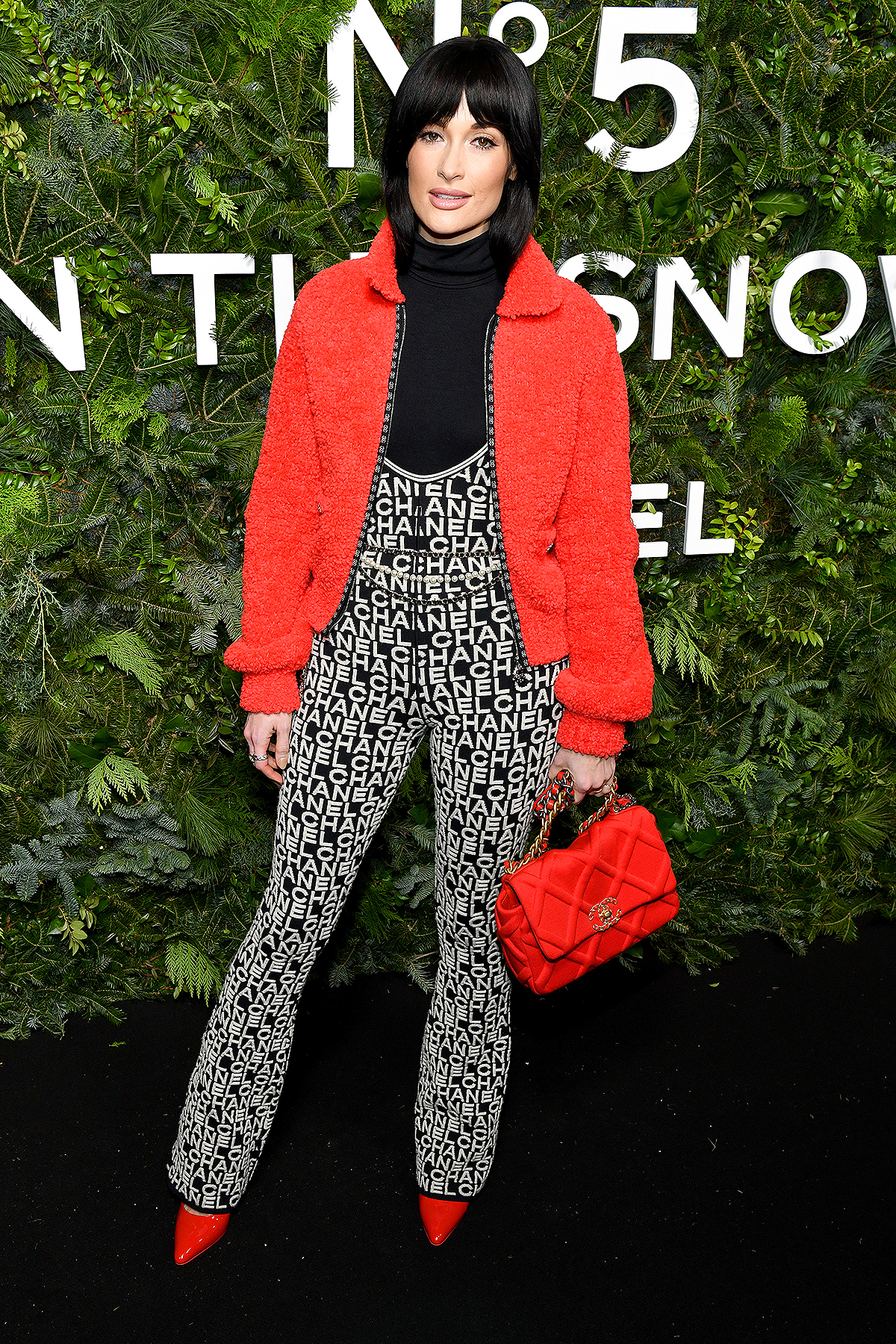 NEW YORK, NEW YORK - DECEMBER 10: Kacey Musgraves, wearing CHANEL, attends the CHANEL party to celebrate the debut of CHANEL N5 In The Snow at The Standard High Line on December 10, 2019 in New York City.