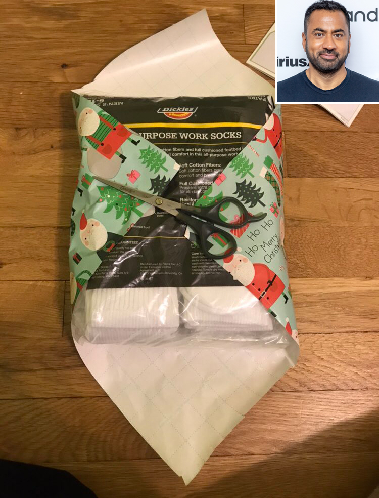 Sunnyside's Kal Penn Says Viral Wrapping Paper Hack Is a Fail: 'Twitter Gift Wrap Trick Was BS'