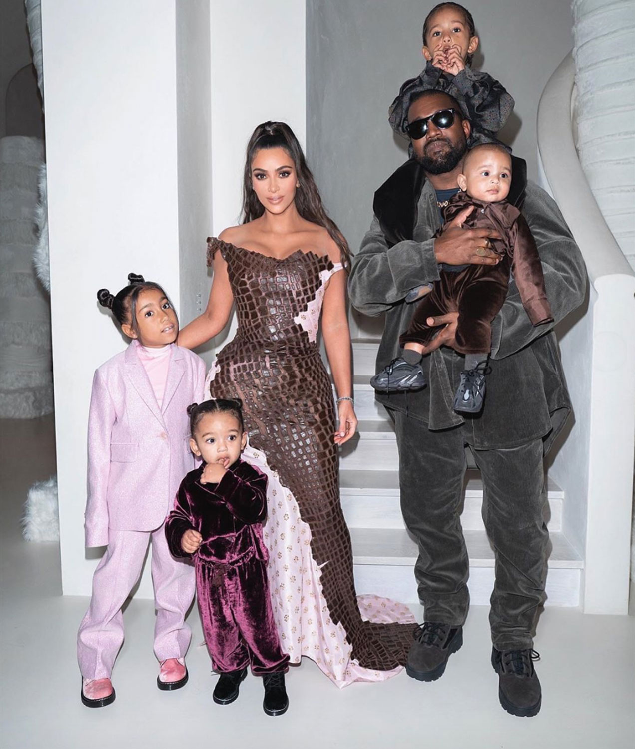 Kim Kardashian Kanye West family Christmas