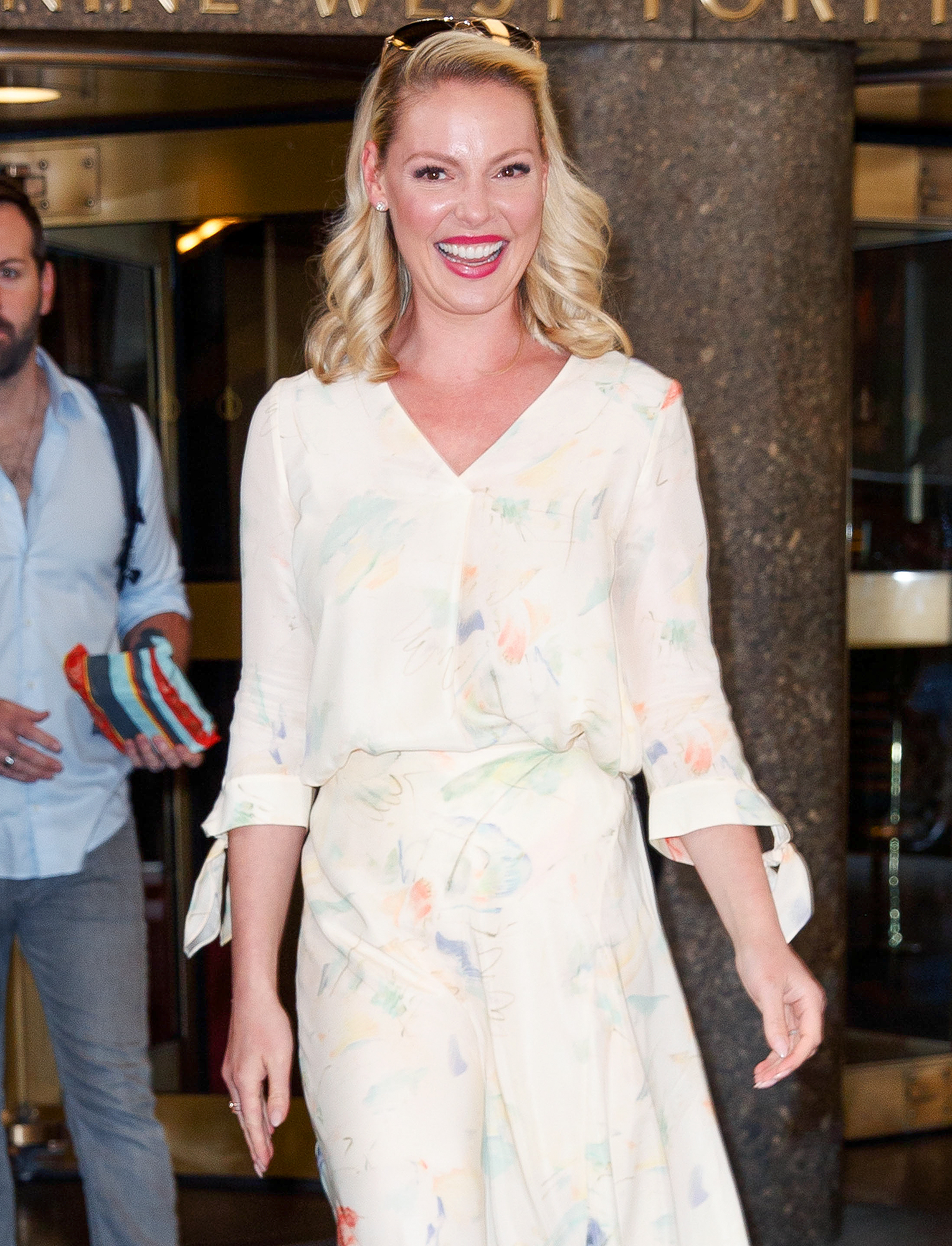 Katherine Heigl At NBC Studios In New York