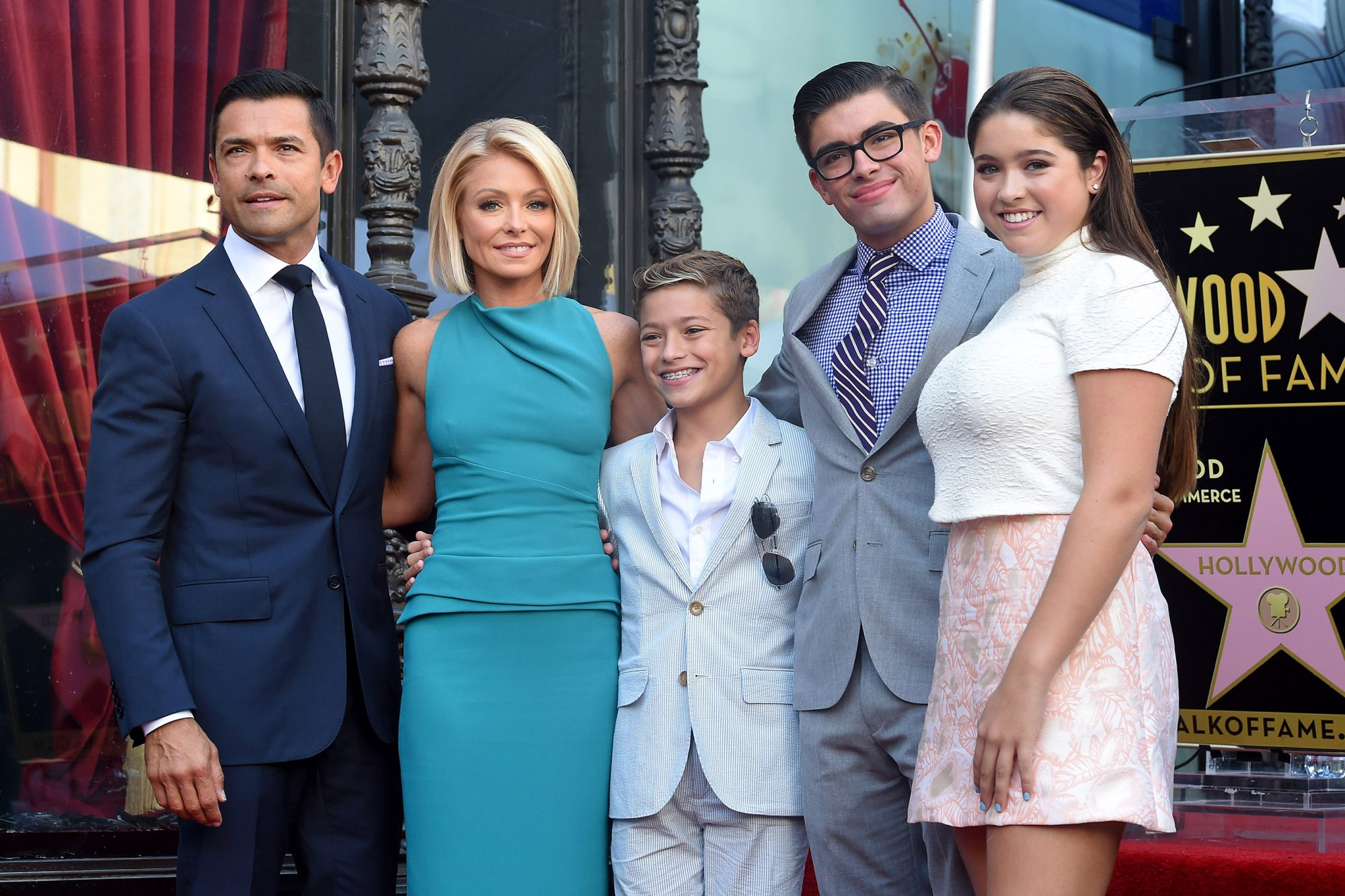 Kelly Ripa, husband Mark Consuelos, daughter Lola Consuelos, sons Michael Consuelos and Joaquin Consuelos